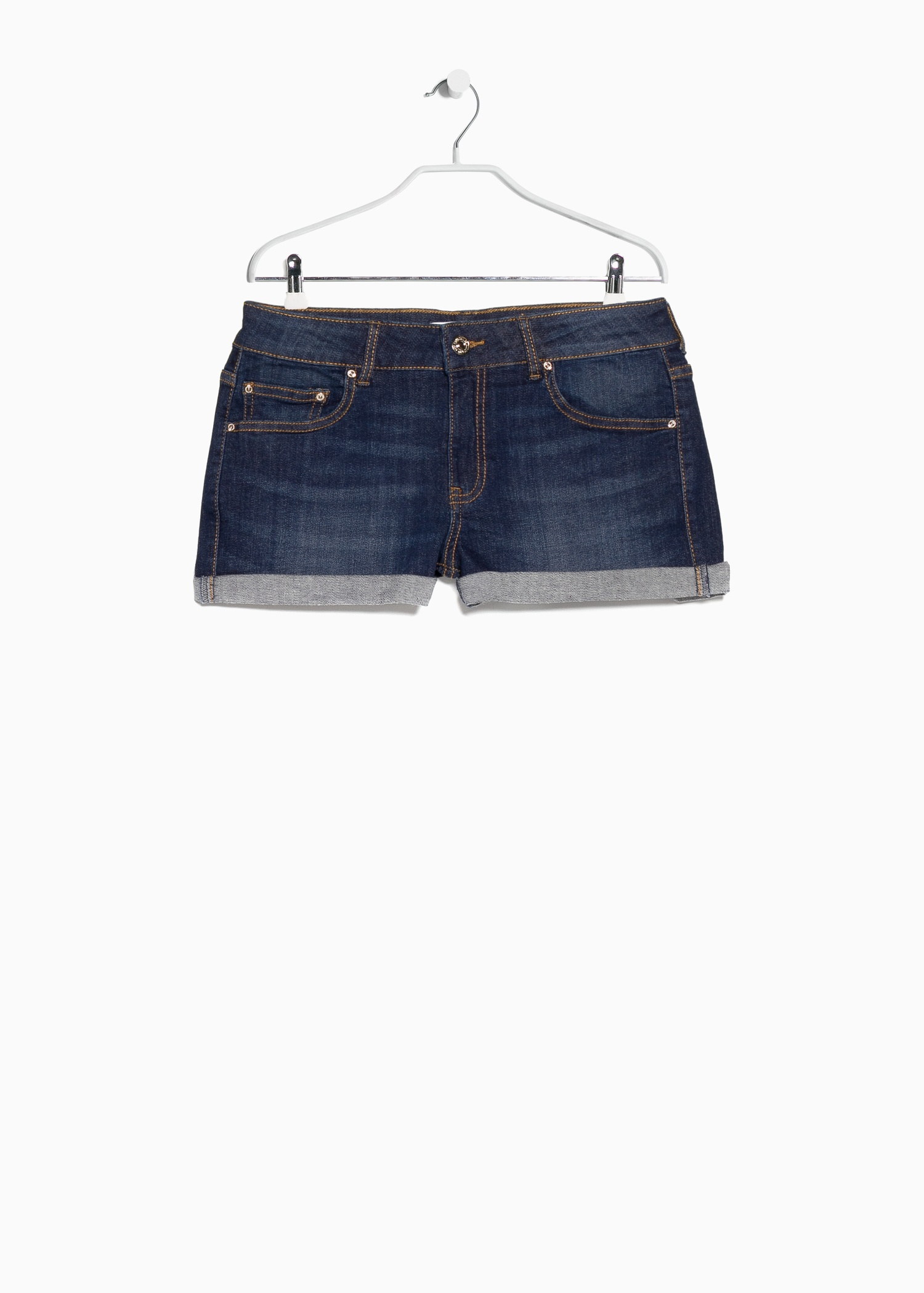 Mango Dark Denim Shorts in Blue | Lyst