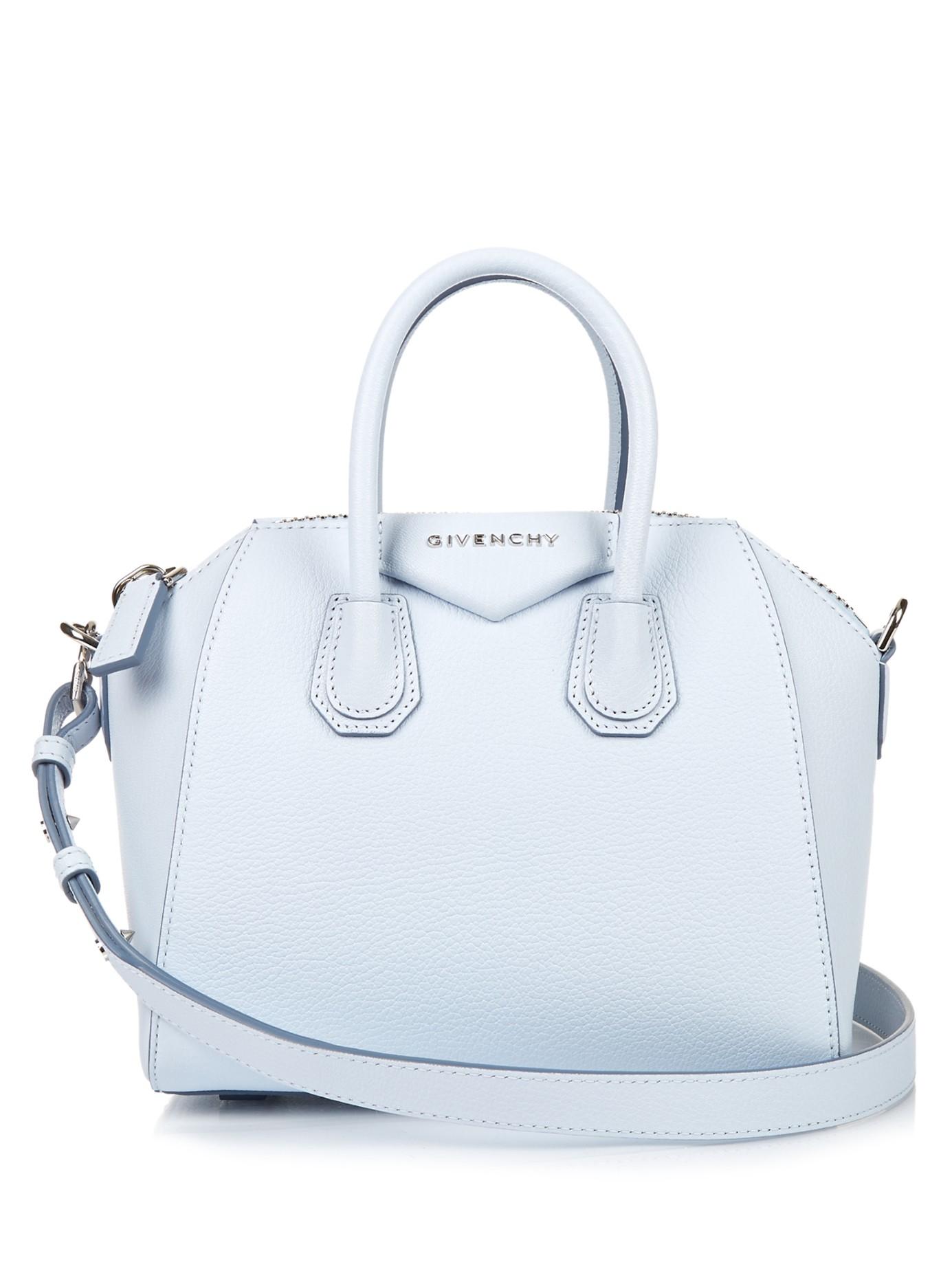 120a1ffbb54a Givenchy Antigona Mini Leather Cross-body Bag in Blue - Lyst