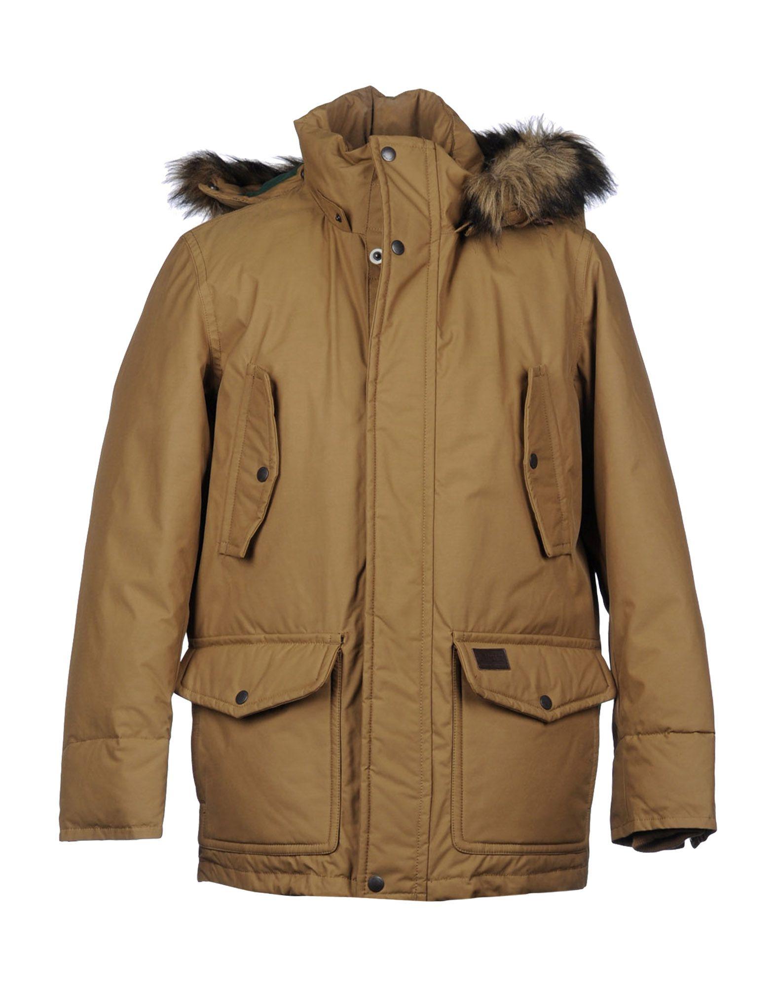 Gant Down Jacket In Brown For Men Camel Lyst