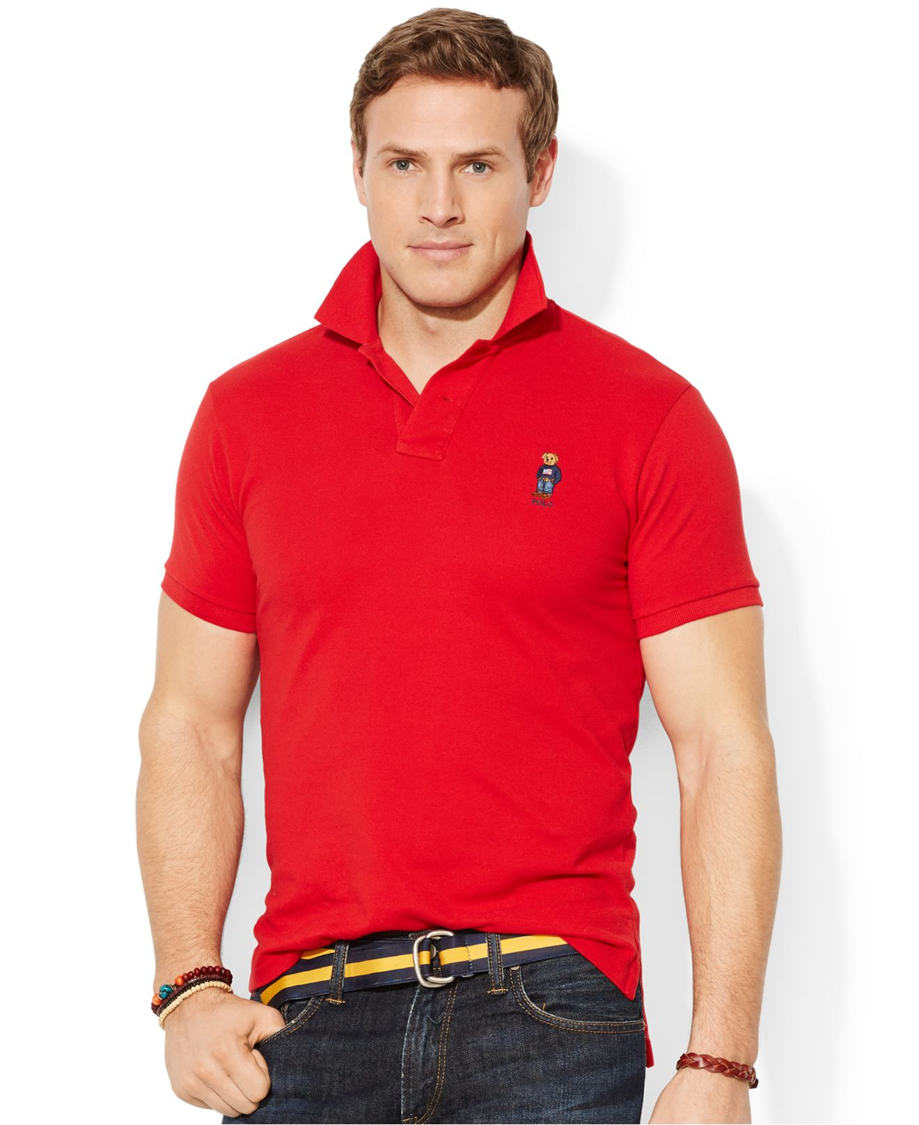 e917c19c Polo Ralph Lauren Big And Tall Classic-Fit Polo Bear Mesh Shirt in ...