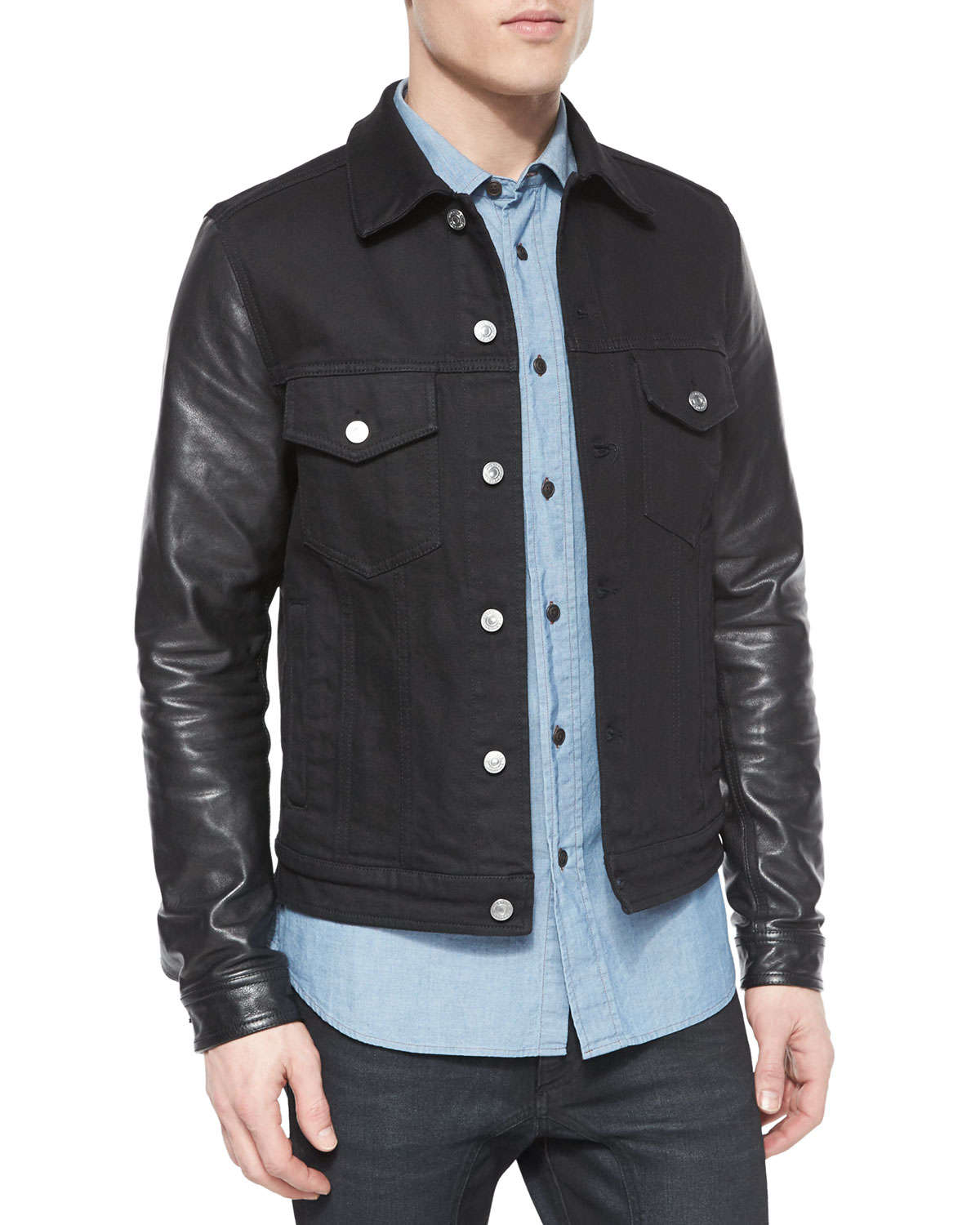 Find great deals on eBay for denim jacket leather sleeves and mens denim jacket leather sleeves. Shop with confidence.