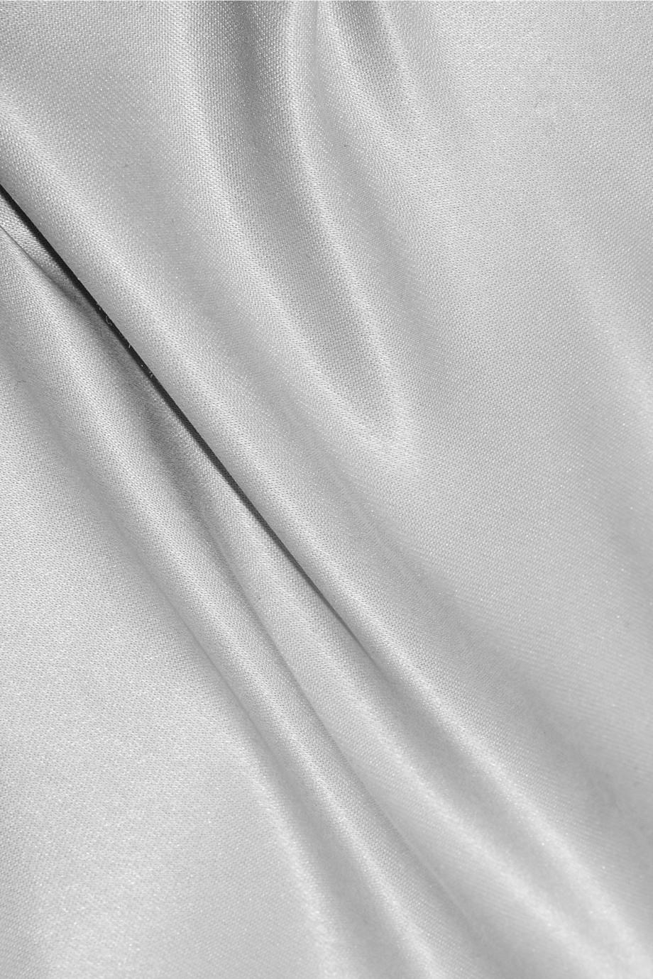 Lyst Joseph Washed Silk Maxi Slip Dress In Gray