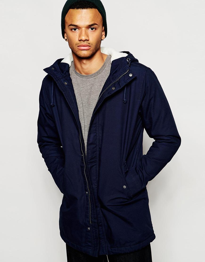 Jack jones hooded parka jacket