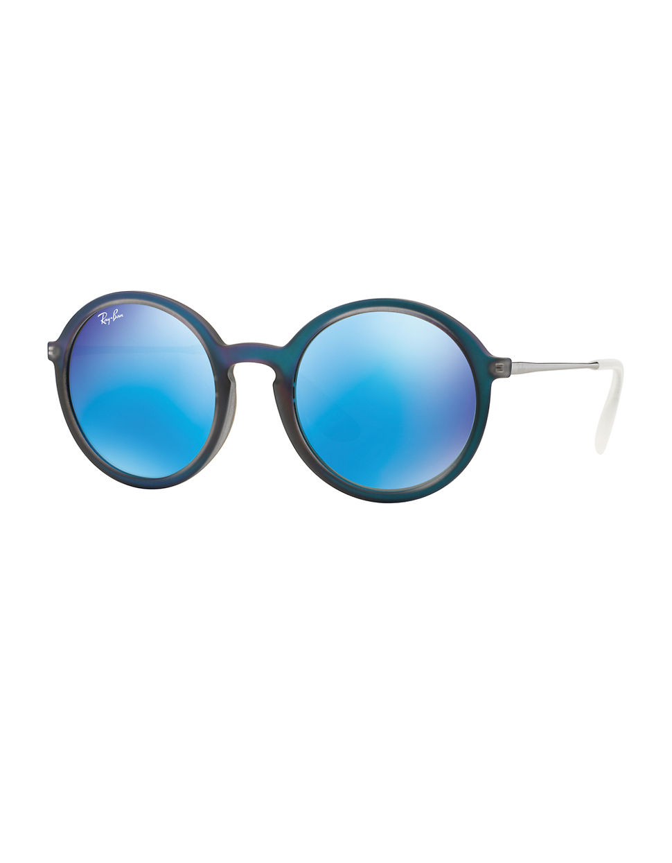 e71c787fc Ray-Ban Oversized Mirror Round 50Mm Sunglasses in Blue - Lyst