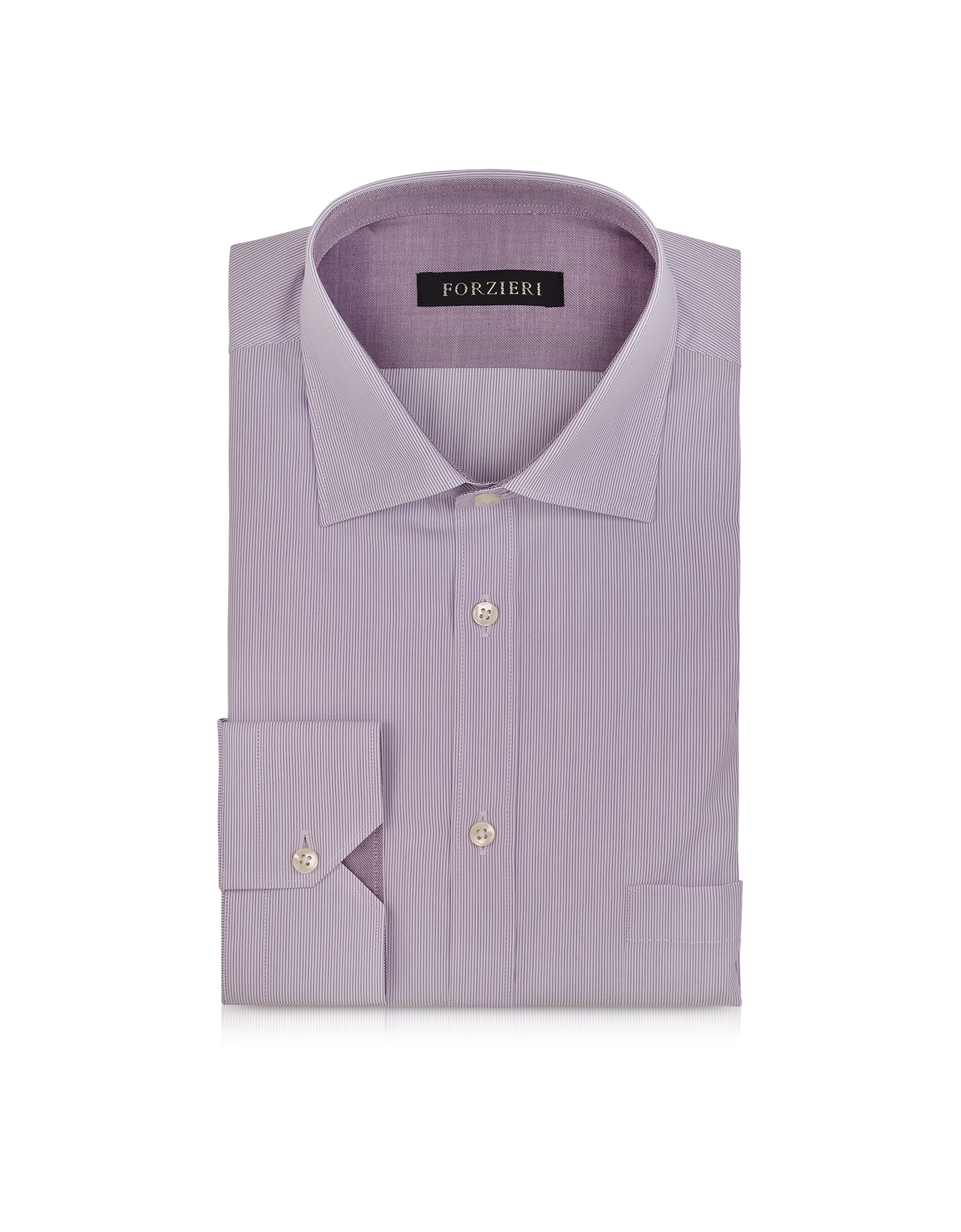Lyst forzieri light purple striped cotton shirt in Light purple dress shirt men