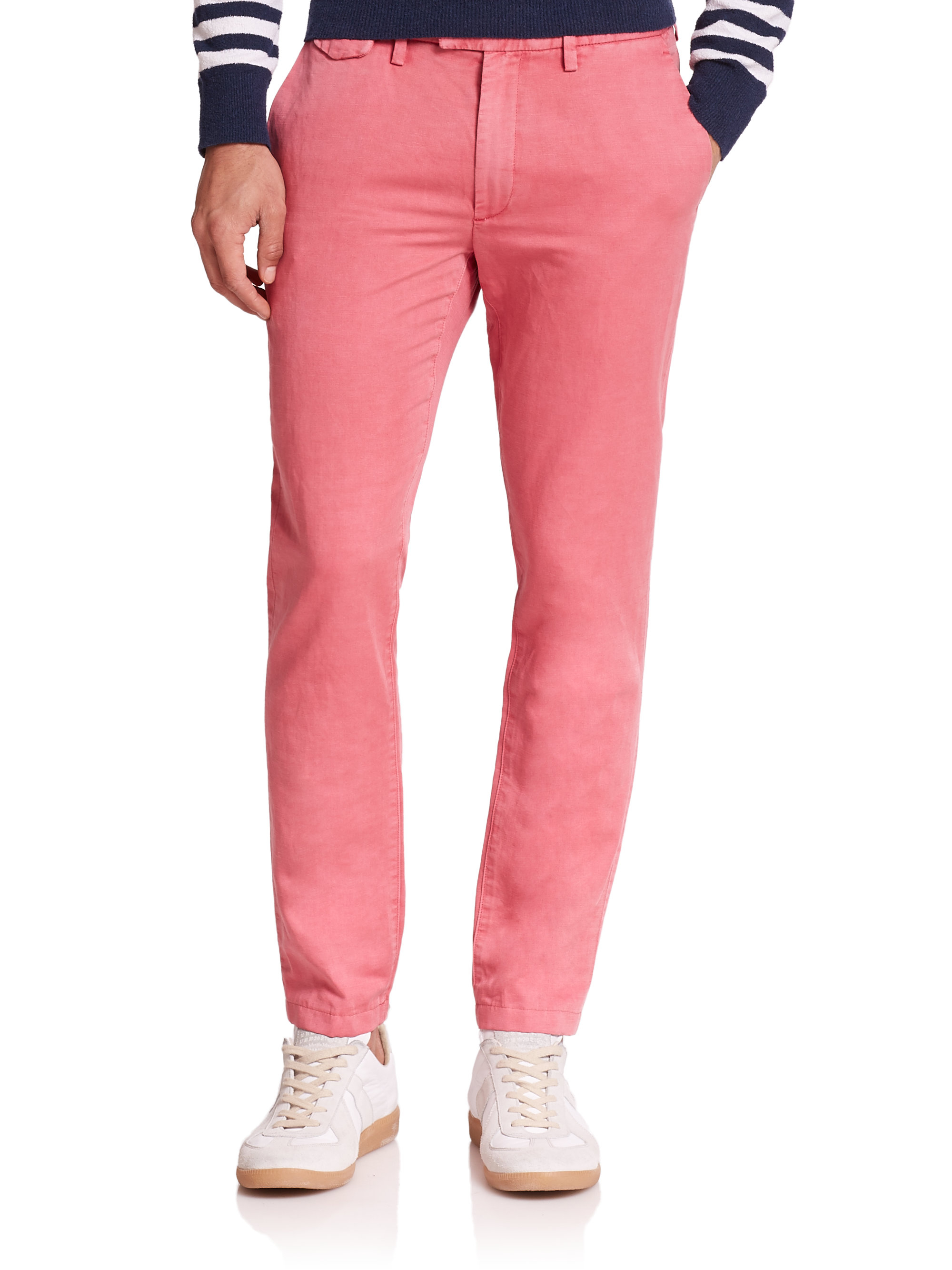 Attractive and cool, men's pink pants are a nice solution to impress others. The fit and appearance of these men's pink pants are acknowledged by men. Search for the right material and clothing size from all the listings to get just what you want.