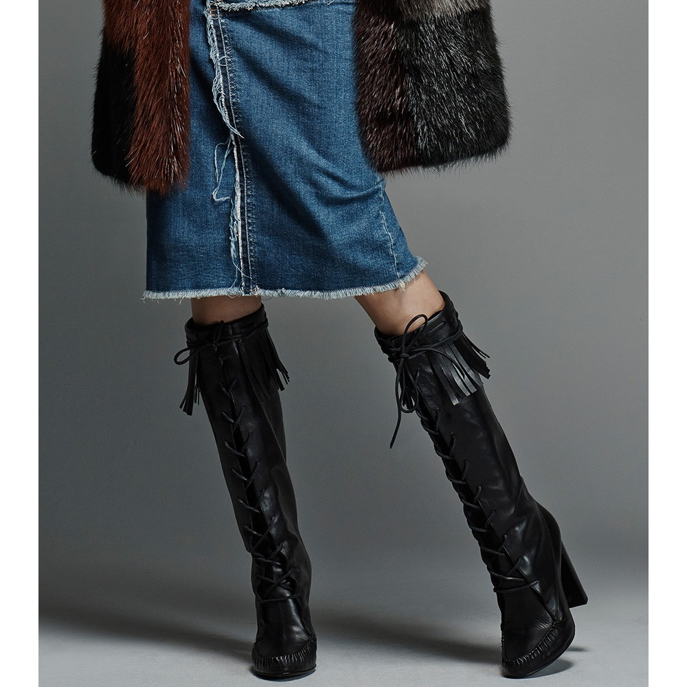 Tom Ford Santa Fe leather knee boots 7awiu