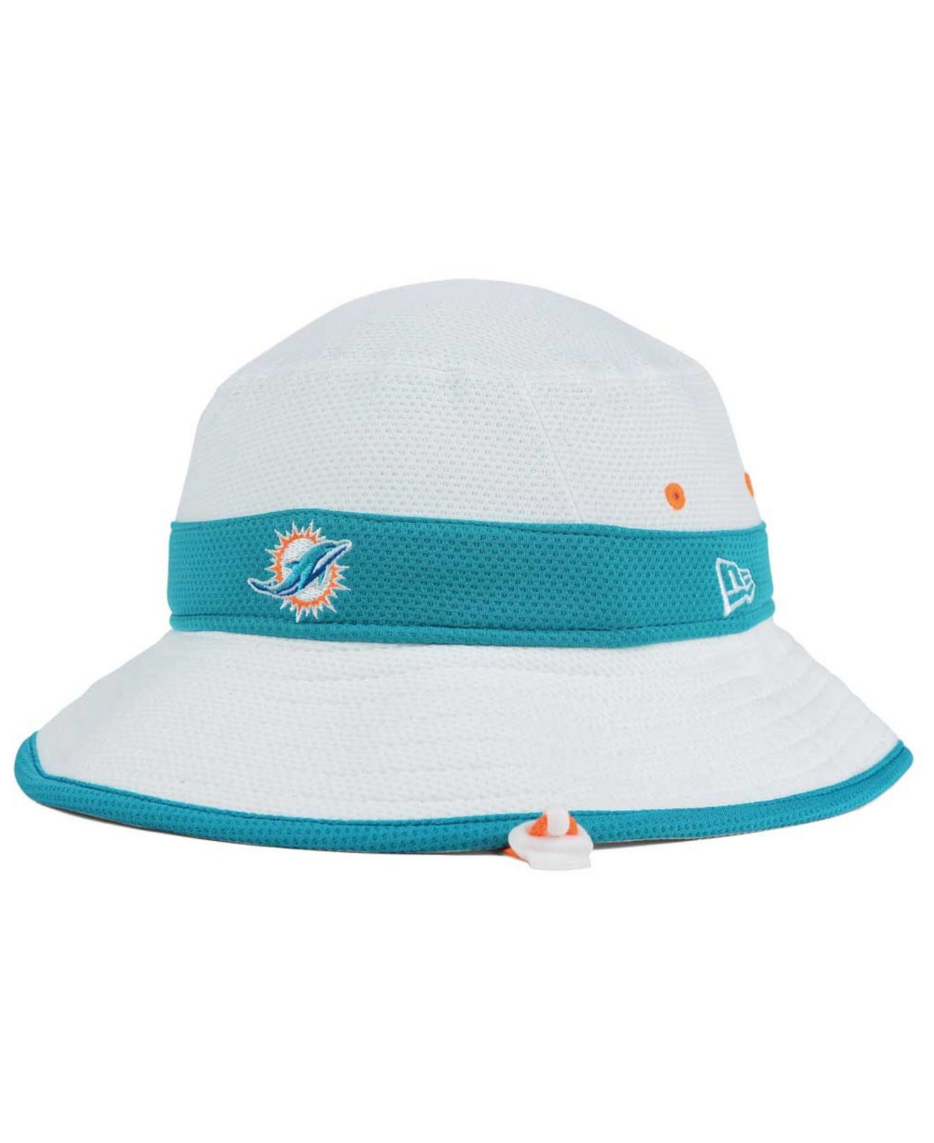 9e25318637f Lyst - KTZ Miami Dolphins Training Camp Official Bucket Hat in White ...