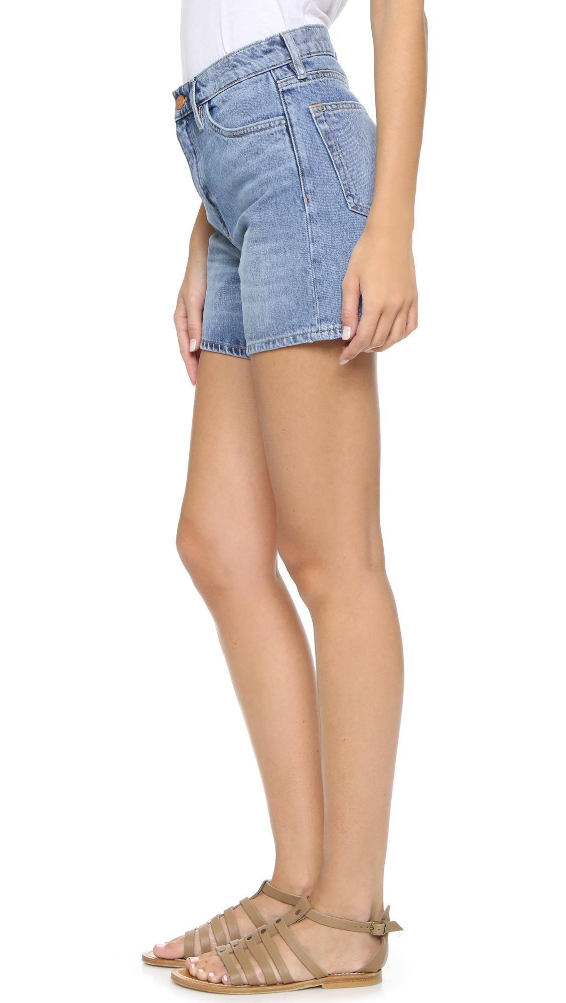 af5500d300 Lyst - M.i.h Jeans Jeanne Shorts in Blue