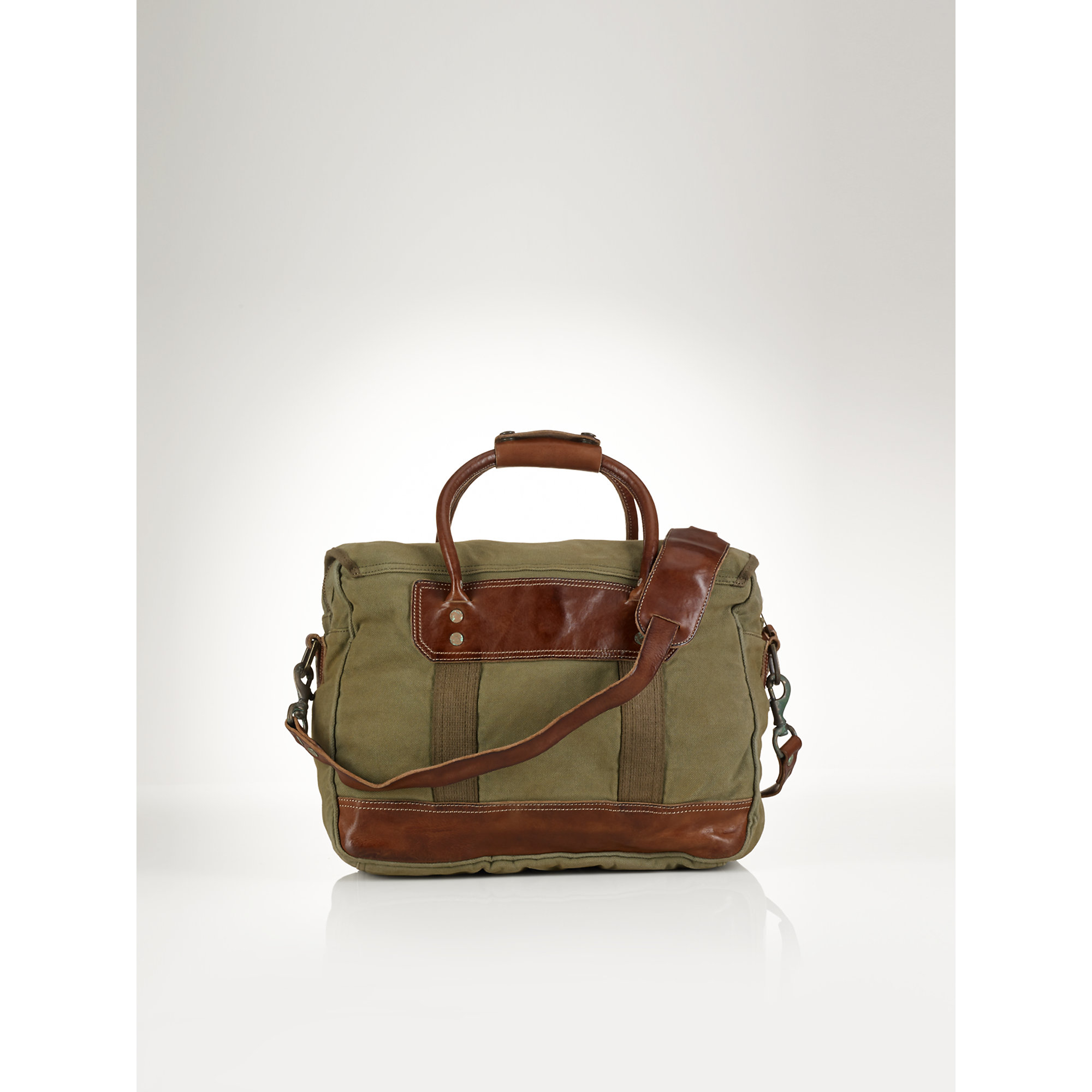 Lyst - Ralph Lauren Canvas Commuter Bag in Green for Men eb6c9b8454