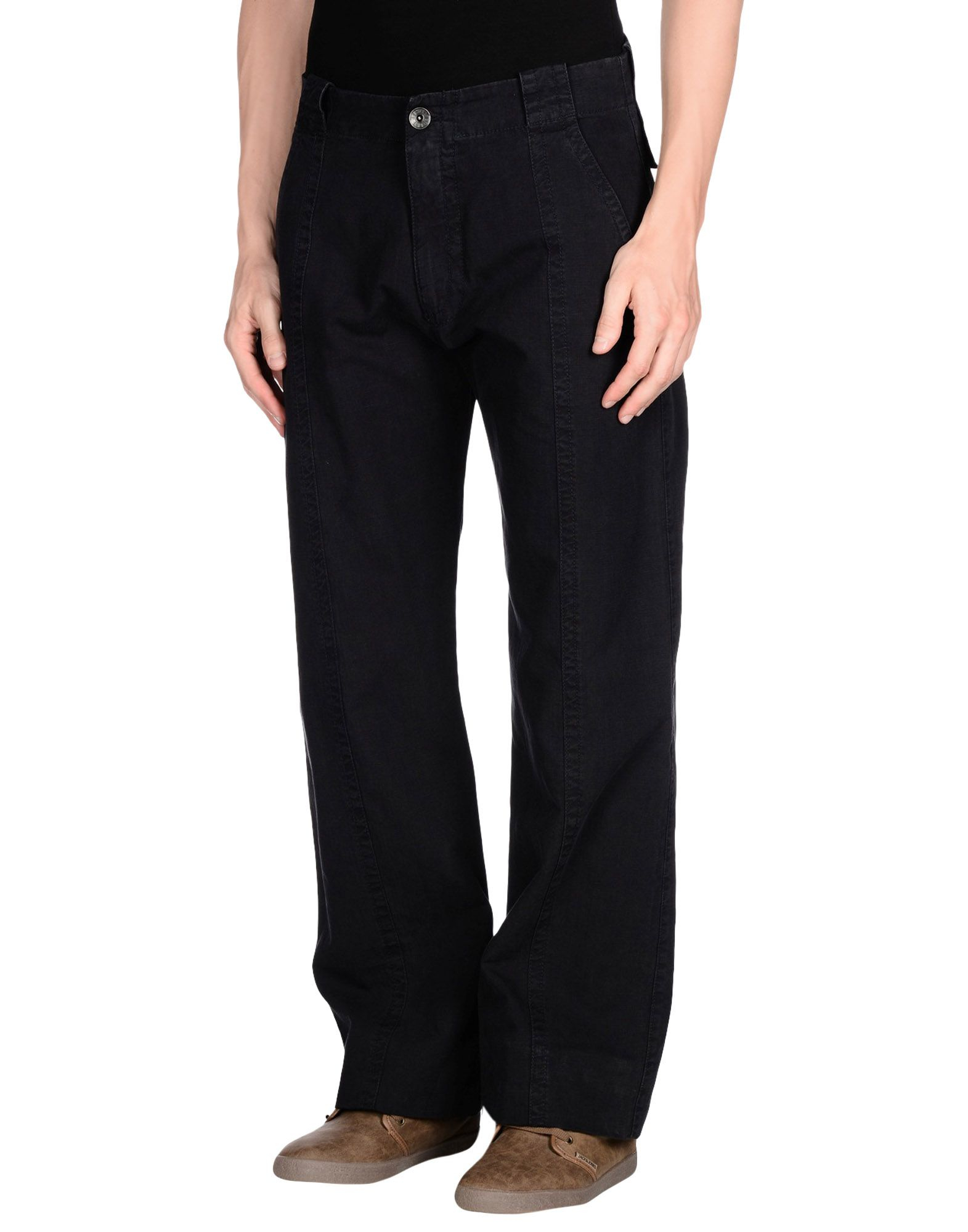 armani casual trouser in blue for lyst