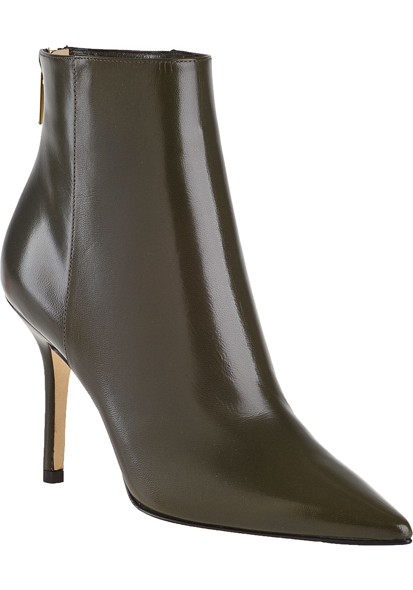 jimmy choo ankle boot green leather in