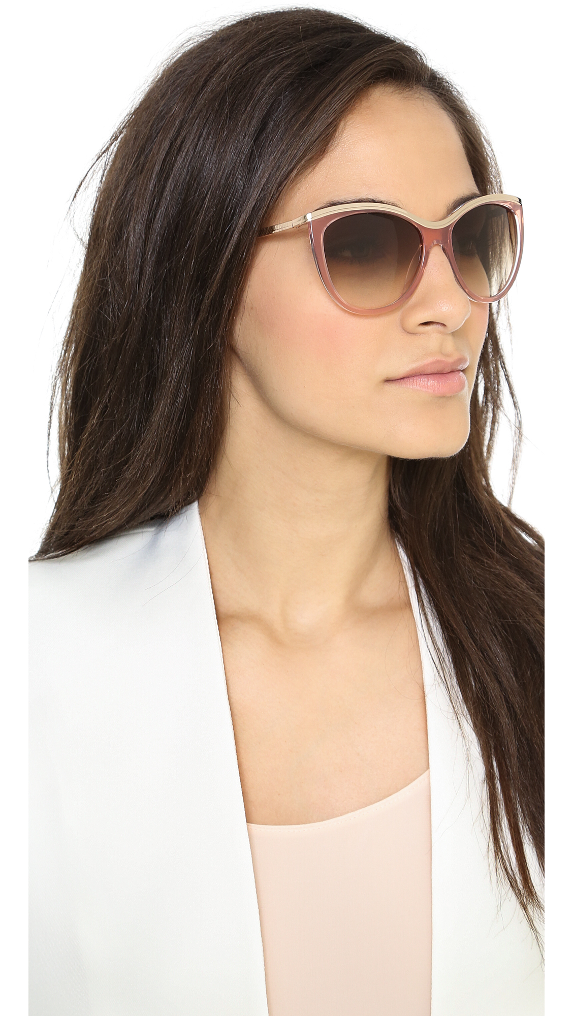 e467cbb368 Lyst - Kate Spade Harmony Sunglasses Neutralbrown Gradient in Pink
