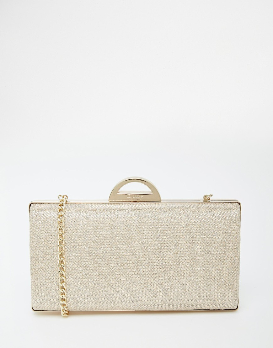 Lyst - Dune Bex Gold Hard Case Clutch Bag in Metallic aee6a5f35