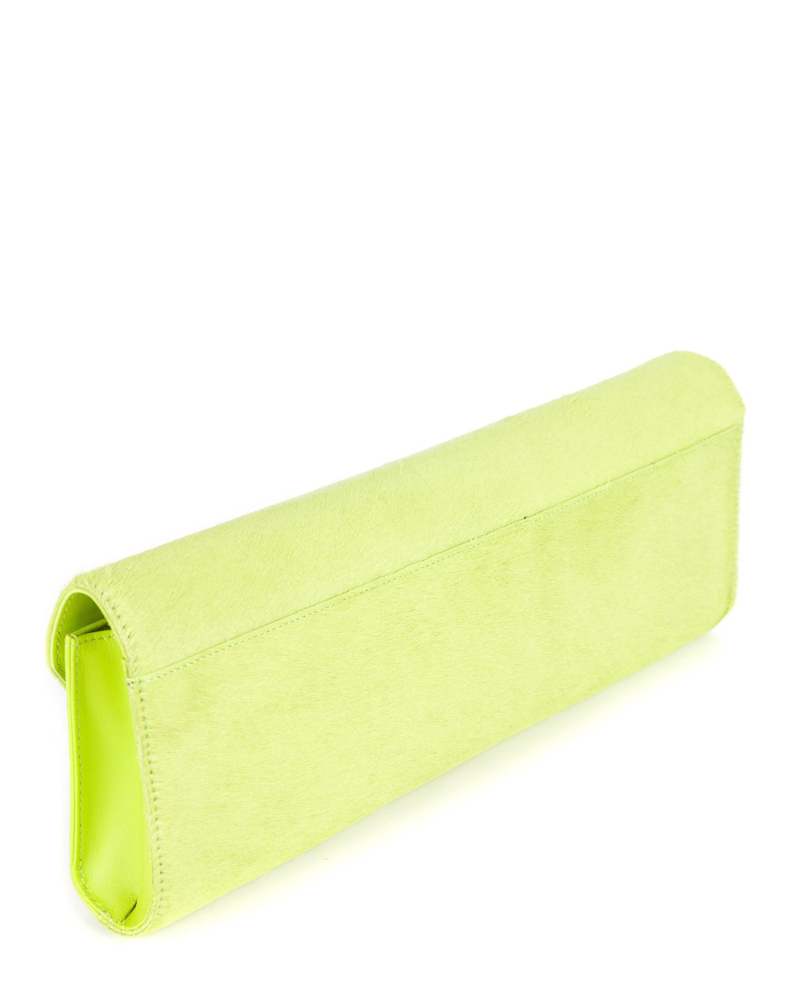 f85657616e4 Ted Baker Pony Skin Clutch Bag in Green - Lyst