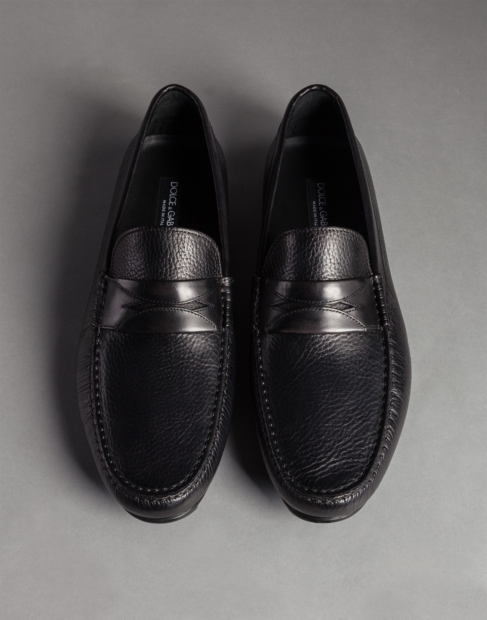 9badfcc179ea Dolce & Gabbana Matisse Calfskin Ragusa Driving Shoes in Black for ...