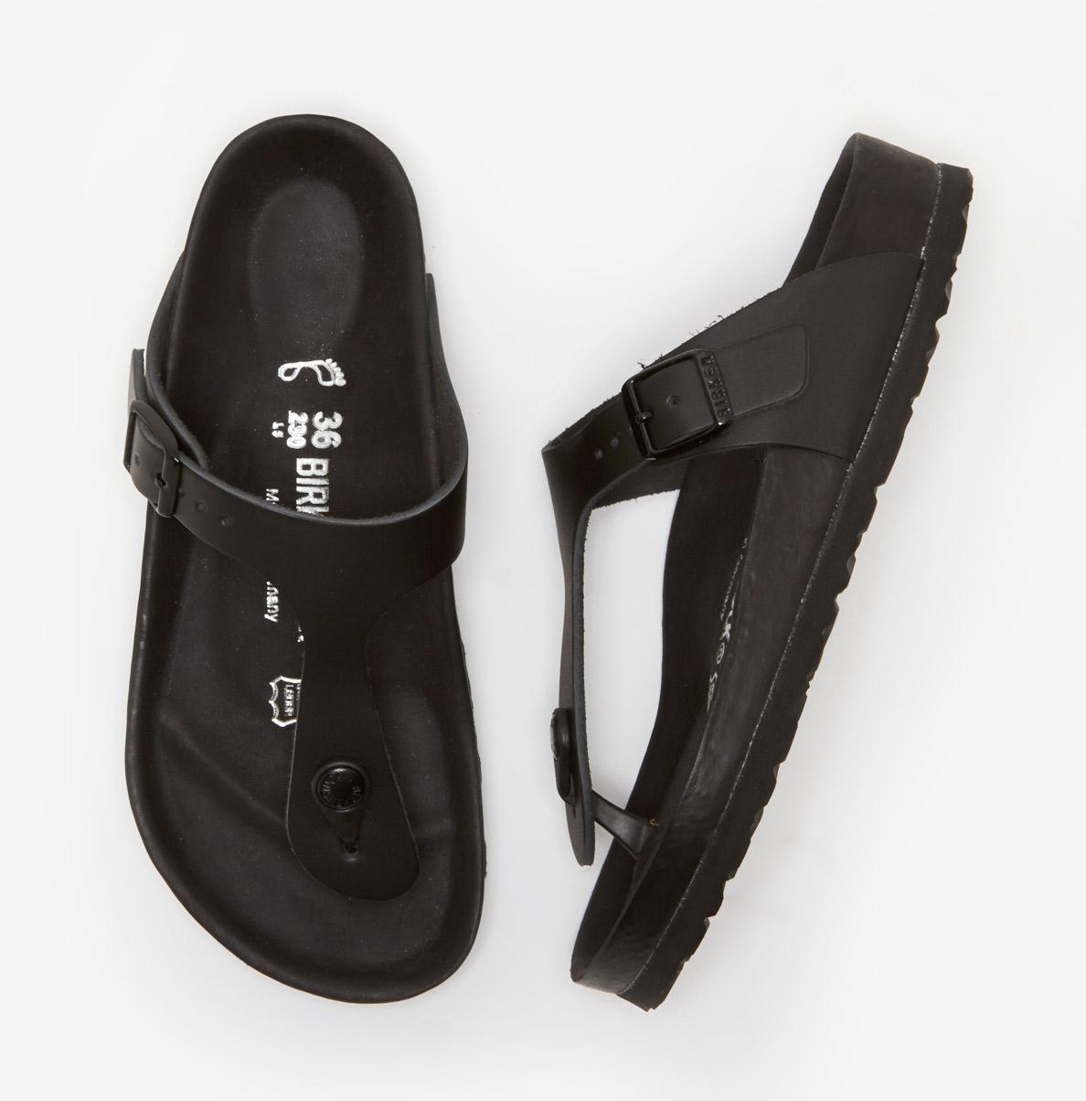 birkenstock gizeh exquisite black