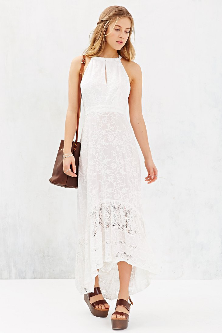 Gypsy 05 Embroidered Tulip Maxi Dress in White  Lyst