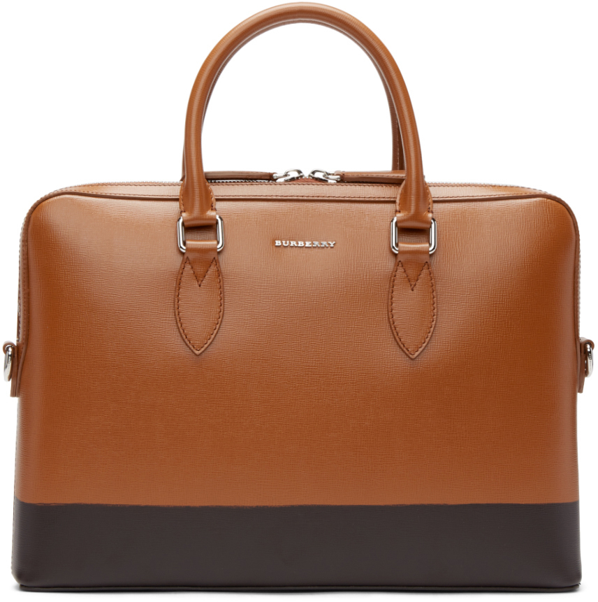 Burberry prorsum Brown Leather Briefcase in Brown for Men ...