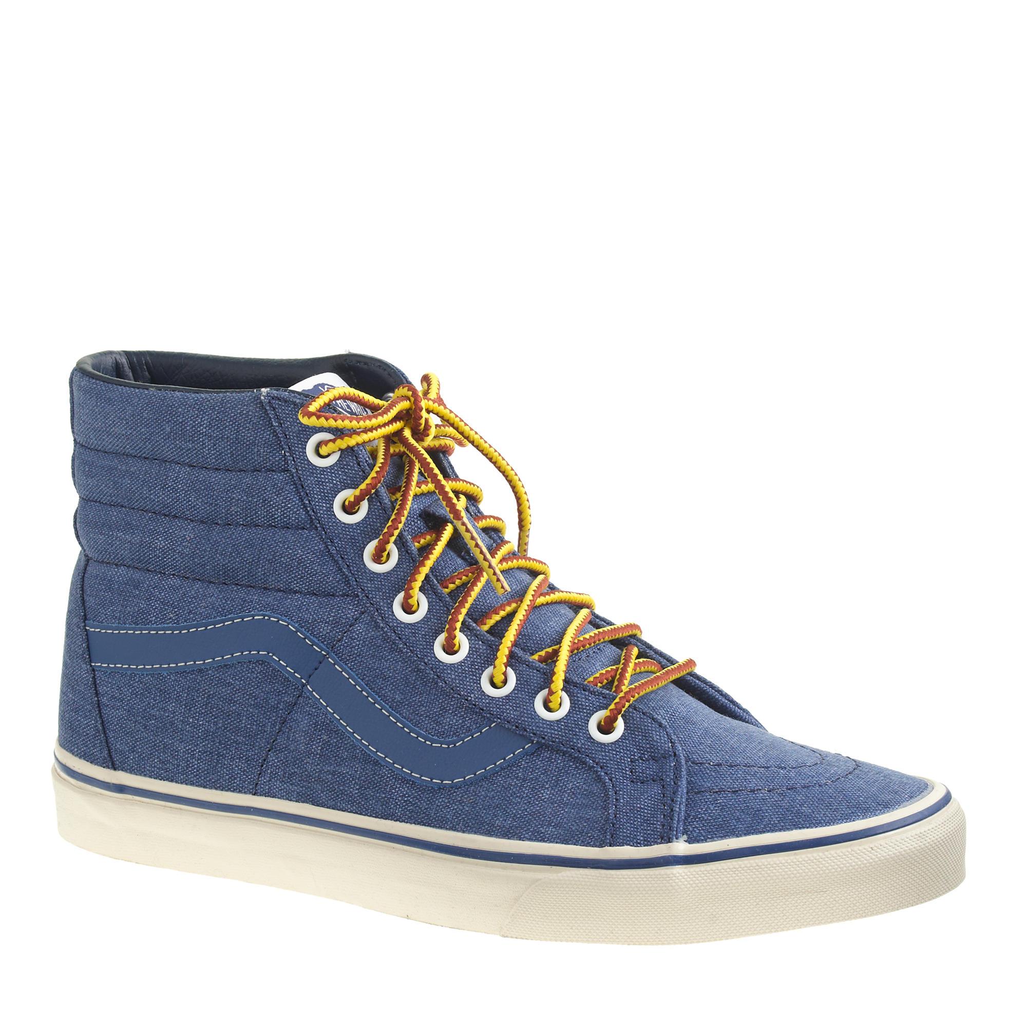8b6e6c3de0e5b1 Lyst - J.Crew Men s Vans Sk8-hi Reissue Sneakers in Blue for Men