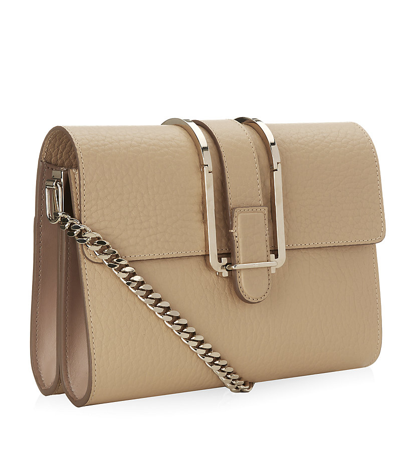 Chlo�� Bronte Chain Small Shoulder Bag in Beige | Lyst