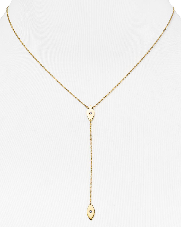 Jennifer Zeuner Chain Link Lariat Necklace EDYqwMDqS