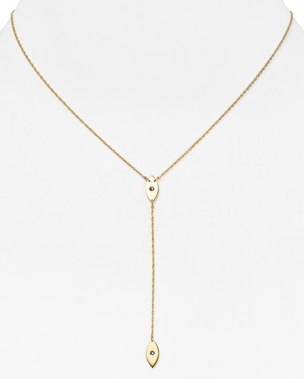 Jennifer Zeuner Ava Lariat Necklace w/ Sapphires bLFnwIS