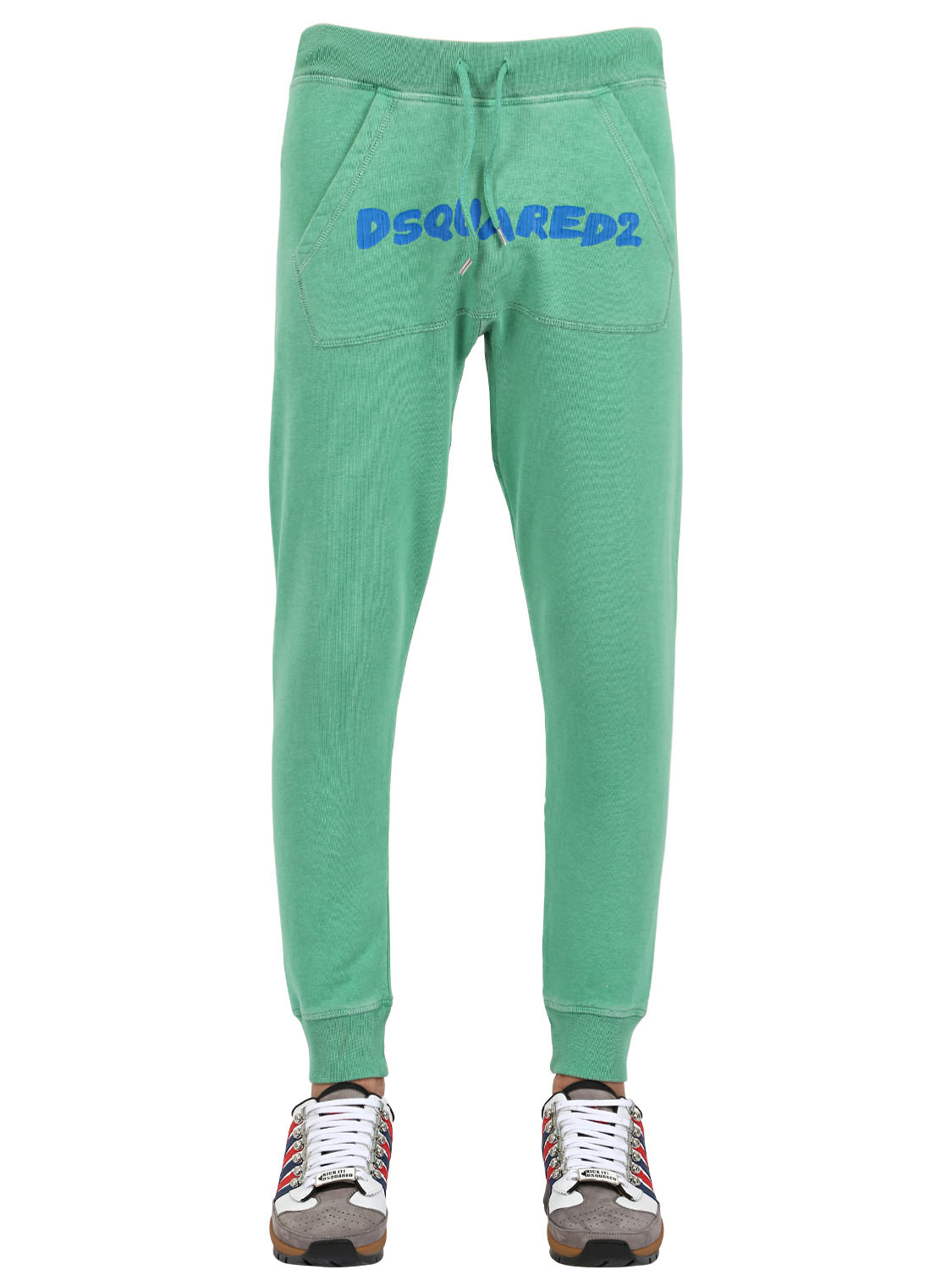 Beautiful Dsquared Washed Cotton Jogging Pants In Green For Men  Lyst