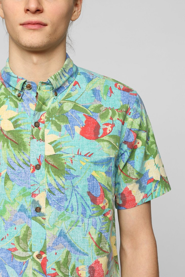 Lyst Vanishing Elephant Birds Buttondown Shirt In Blue