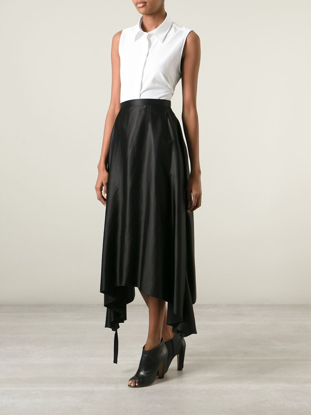 Mm6 by maison martin margiela long draped asymmetric skirt for Mm6 maison margiela