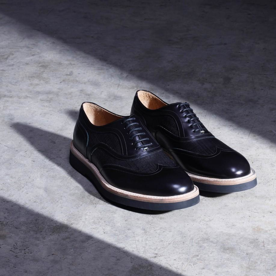 paul smith s black calf leather truman oxford shoes