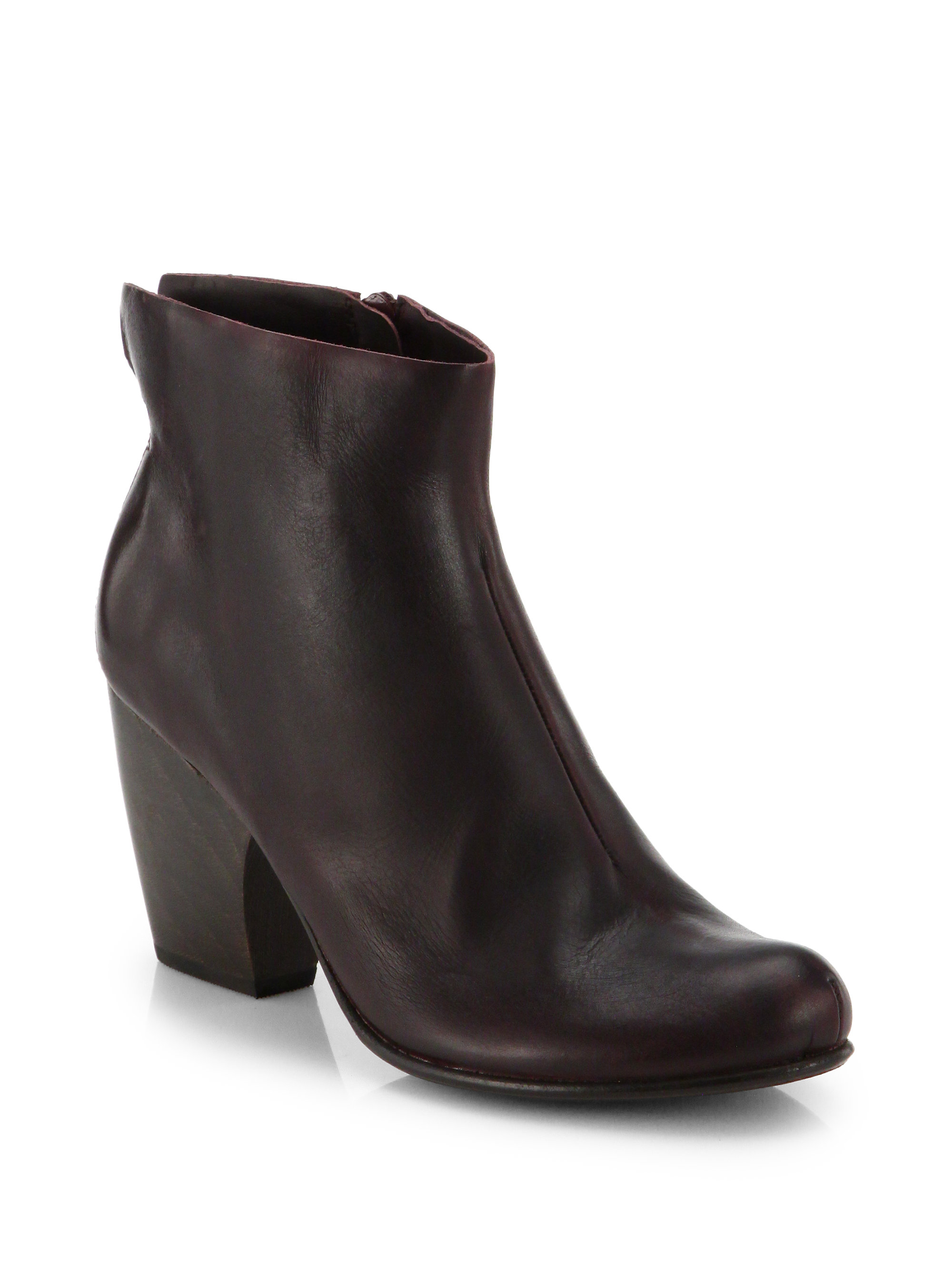 coclico vita suede flared ankle boots in purple maroon