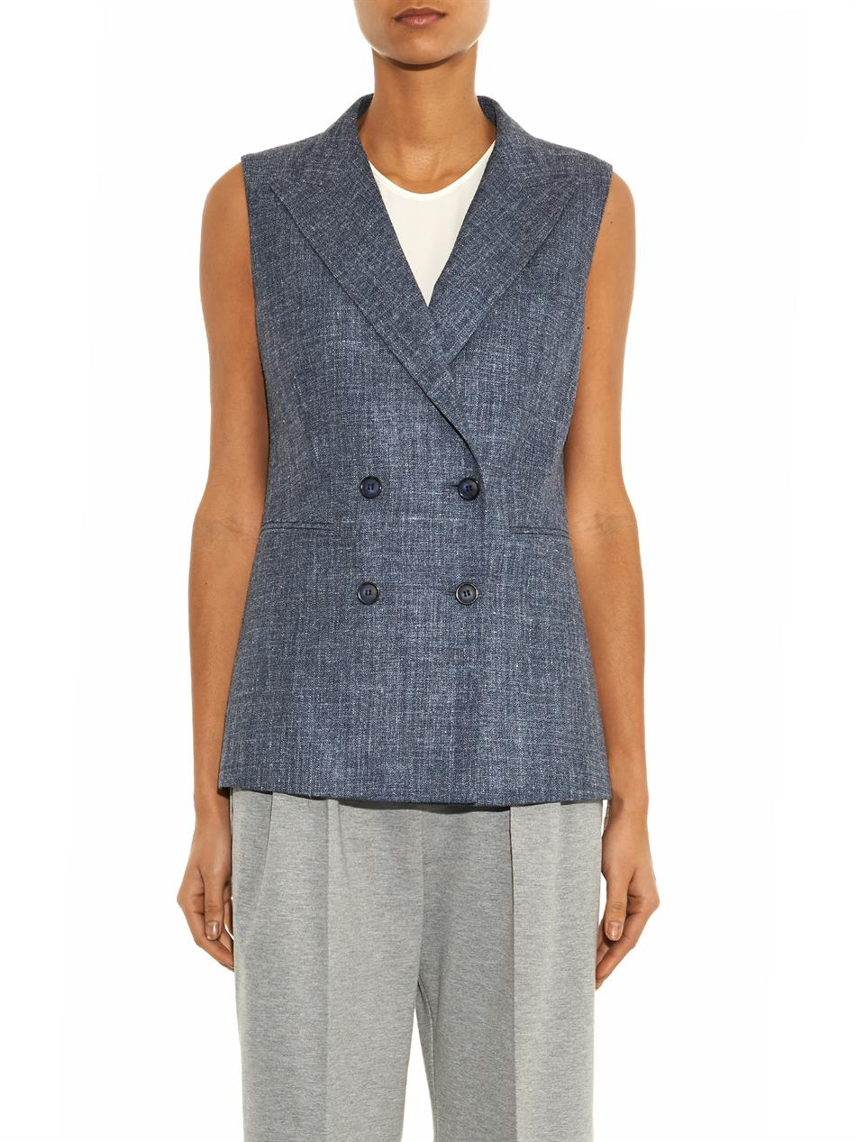 Lyst Max Mara Bratto Waistcoat In Gray