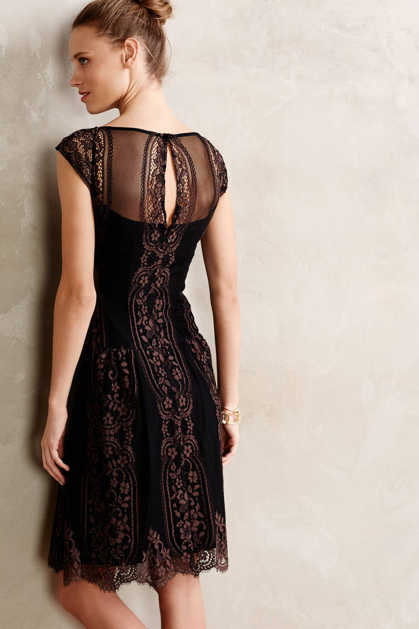 Nanette lepore Leopold Lace Dress in Brown | Lyst