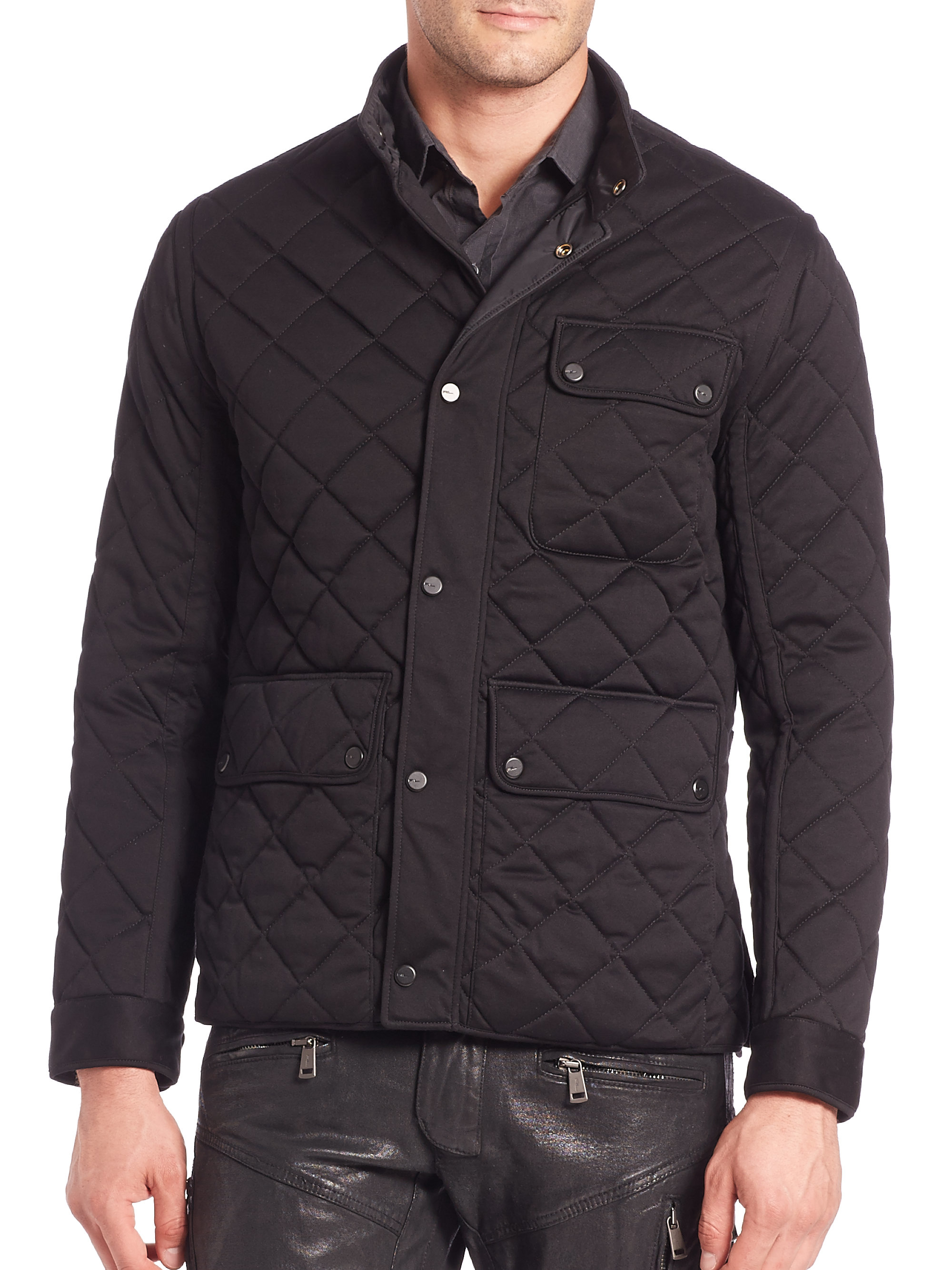 hoodie lauren mens vince ralph quilted com coat shearling quilt jacket at