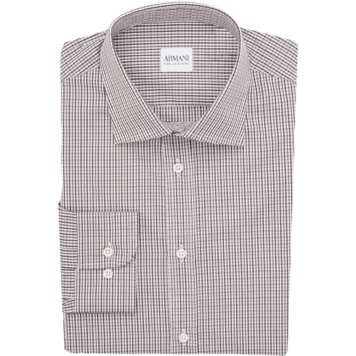 lyst armani plaid dress shirt in red for men