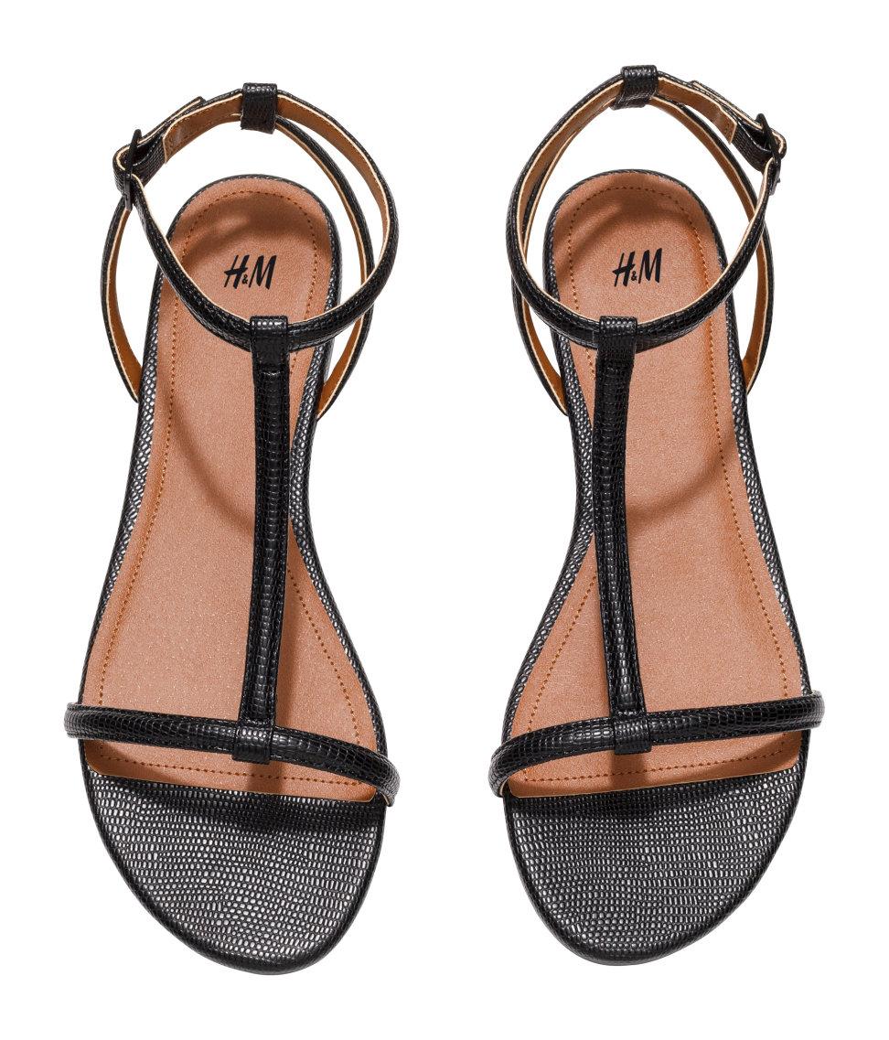 875e4cfe5b5b Lyst - H M Strappy Sandals in Black