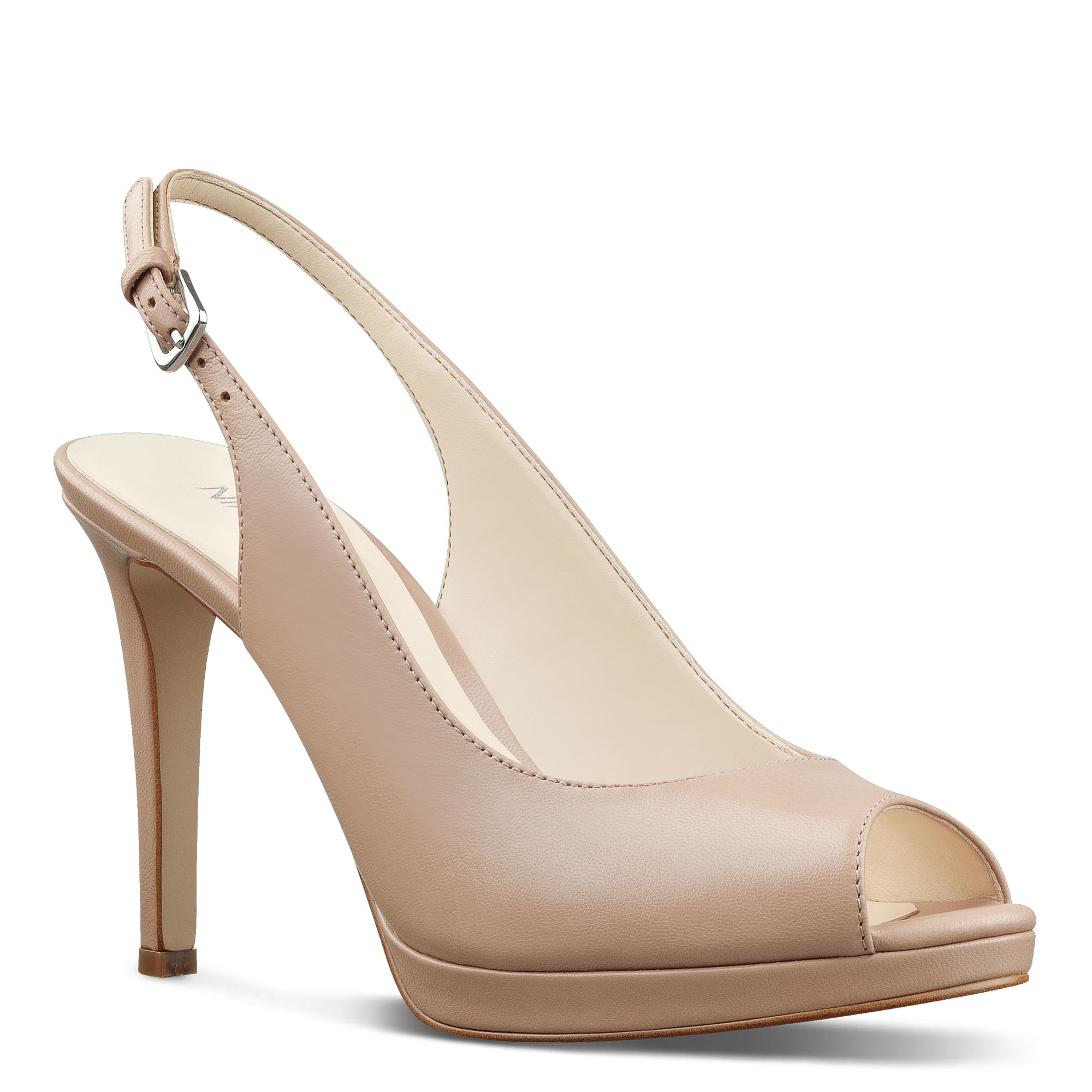 2fae37cc086a Lyst - Nine West Emilyna Slingback Pumps in Natural