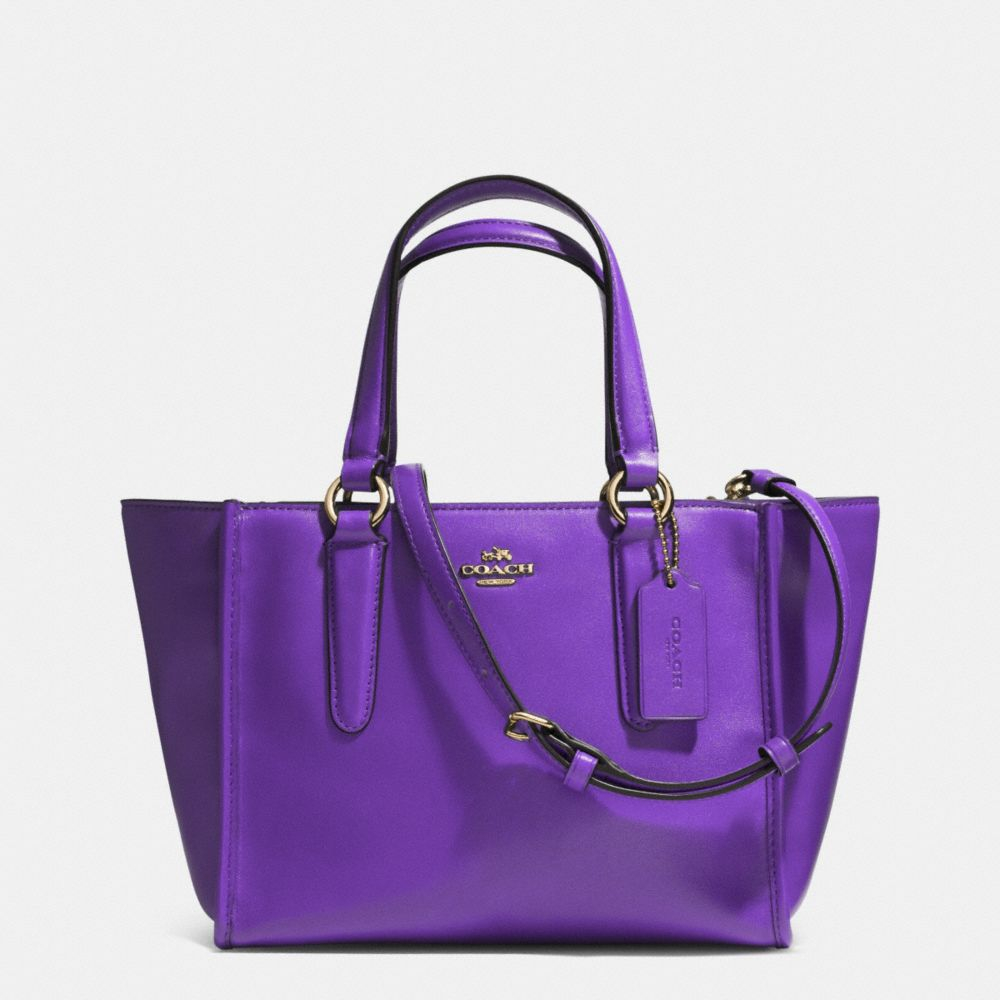 Lyst Coach Crosby Mini Carryall In Smooth Leather In Purple
