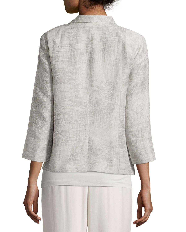 8a98dd84c1a9 Eileen fisher Linen Cotton-Blend Jacket in Gray