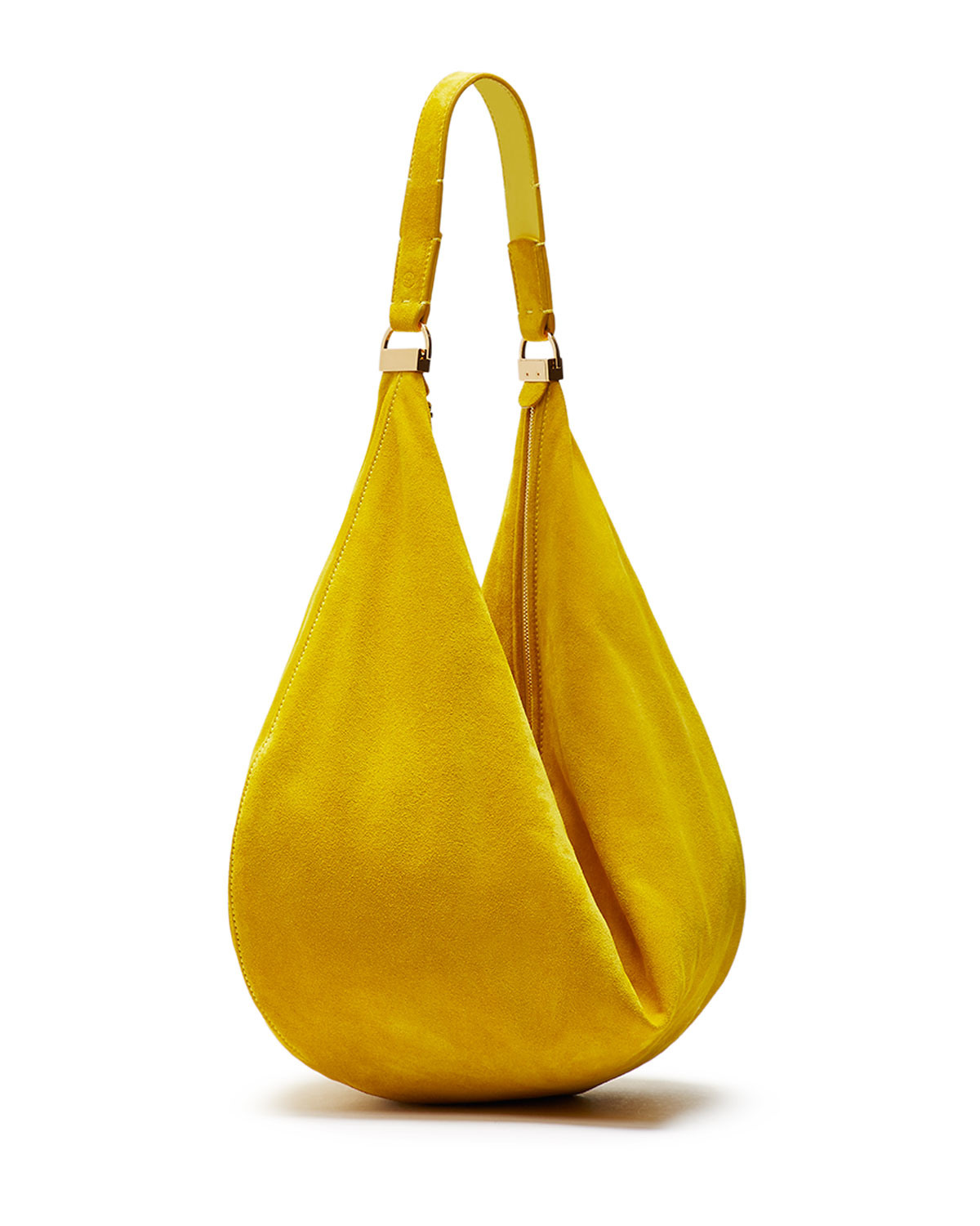 1769a3861b9c Lyst - The Row Sling 12 Suede Hobo Bag in Yellow