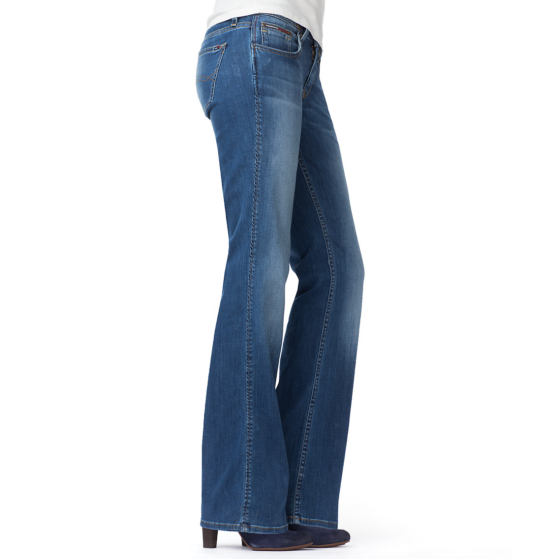 tommy hilfiger rhonda boot cut jeans in blue niceville mid stretch lyst. Black Bedroom Furniture Sets. Home Design Ideas