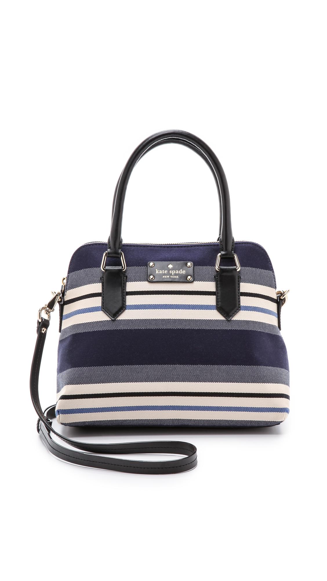 Kate Spade Striped Handbag - ShopStyle