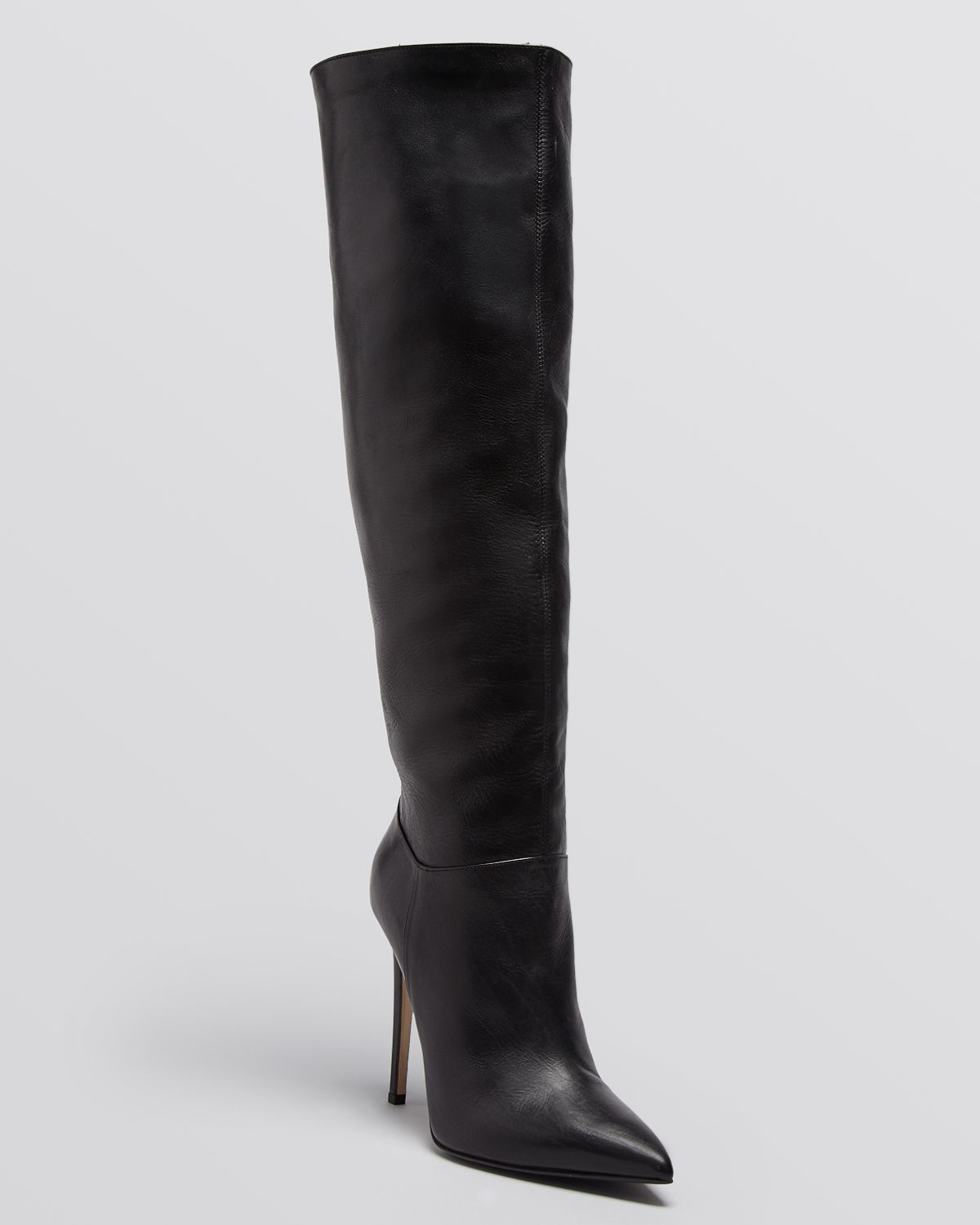 le silla pointed toe high heel boots in black