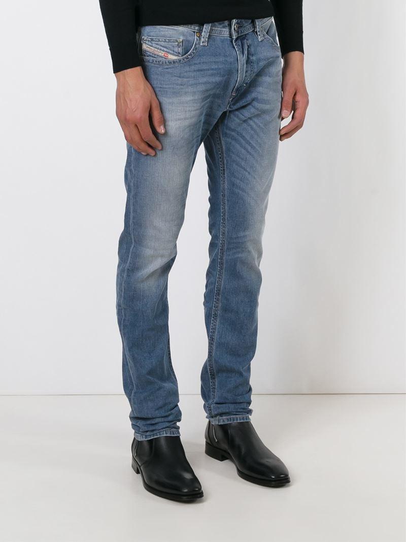 lyst diesel thavar 0842h jeans in blue for men