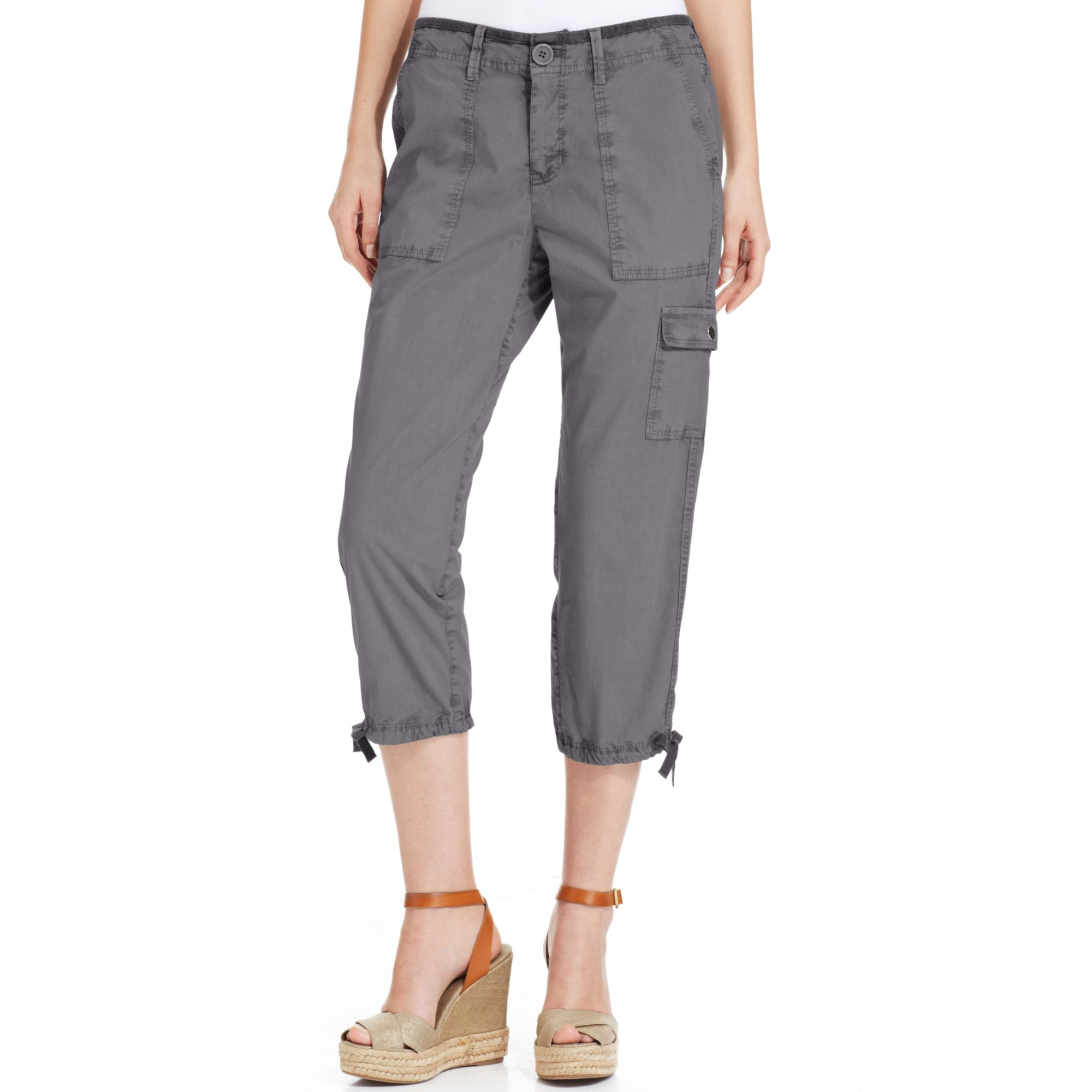 Excellent Norma Kamali  Women39s Cropped Cargo Pants Women  Walmartcom