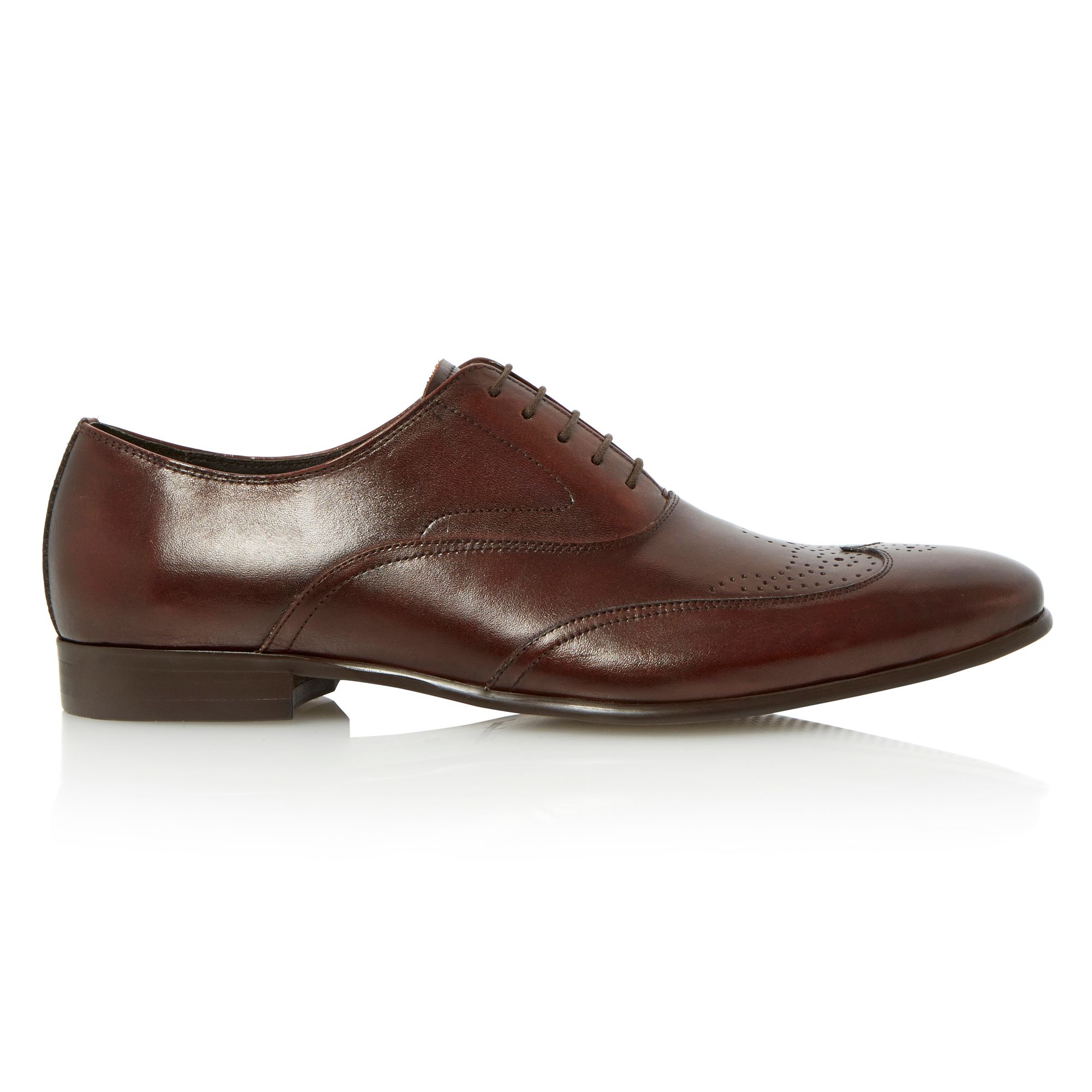 Dune Admire Lace Up Wingtip Brogue Oxford Shoes In Brown For Men | Lyst