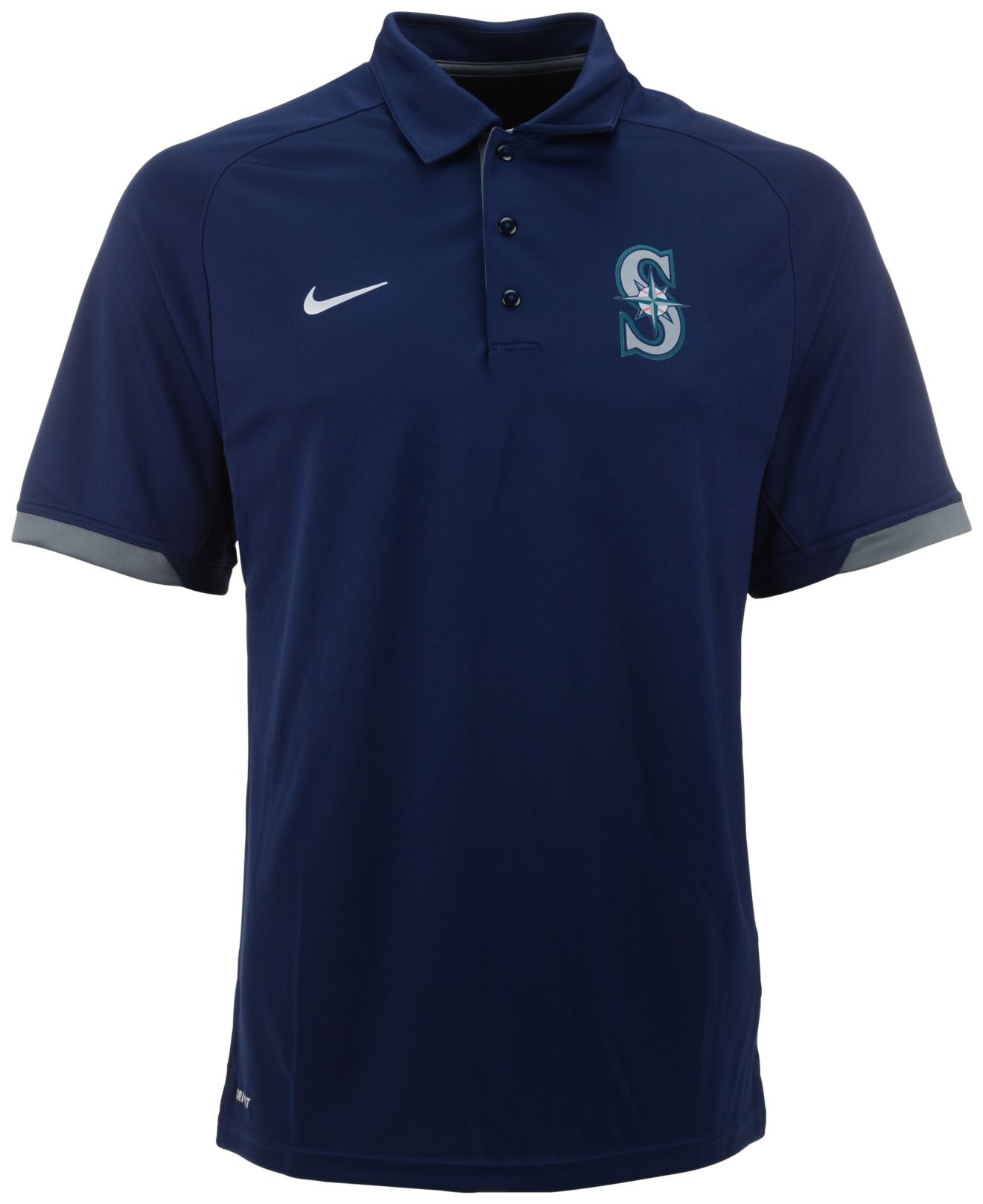 Lyst - Nike Men'S Seattle Mariners Dri-Fit Training Polo ...
