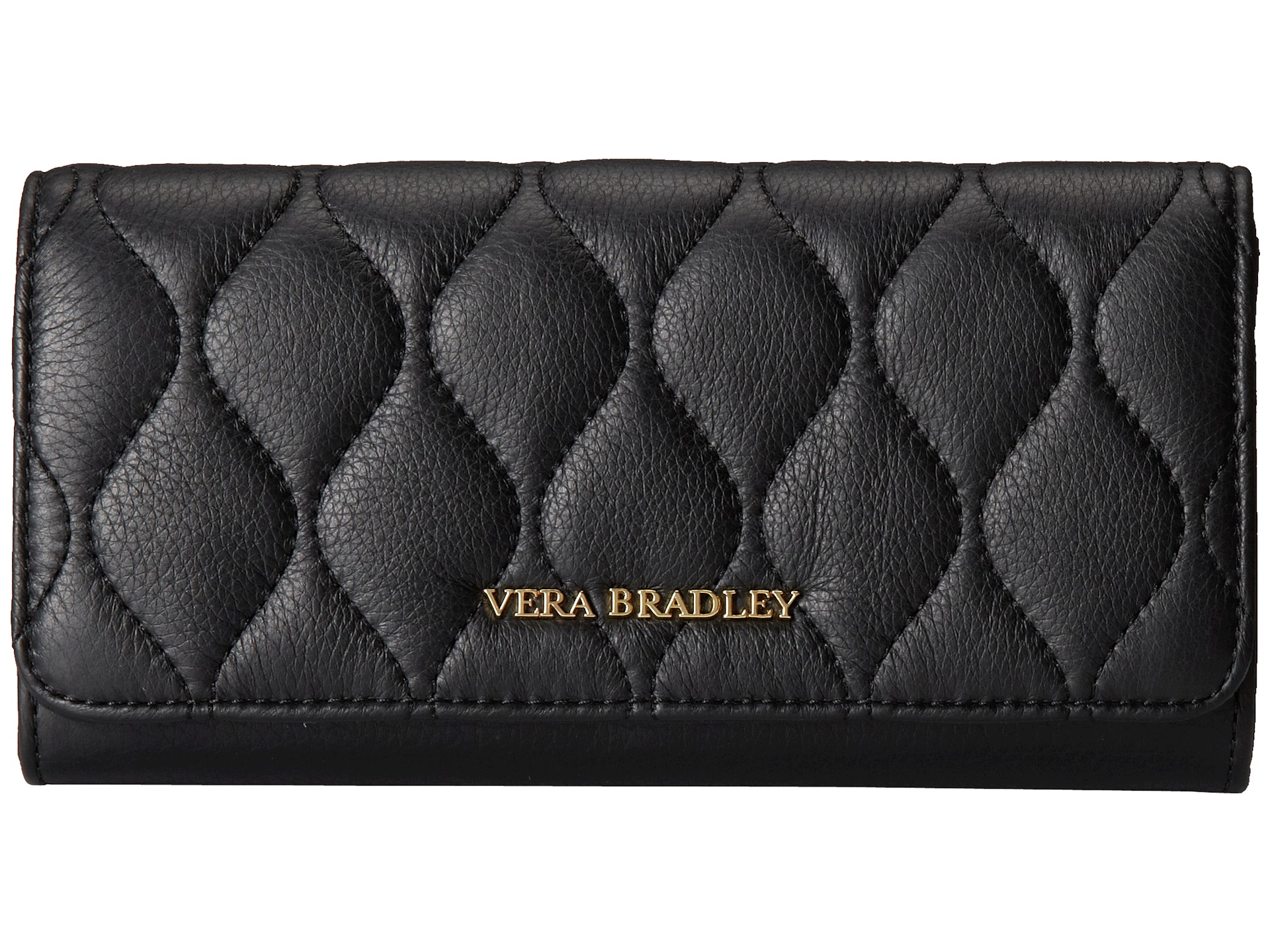 Vera bradley Quilted Audrey Wallet in Black | Lyst : black quilted wallet - Adamdwight.com