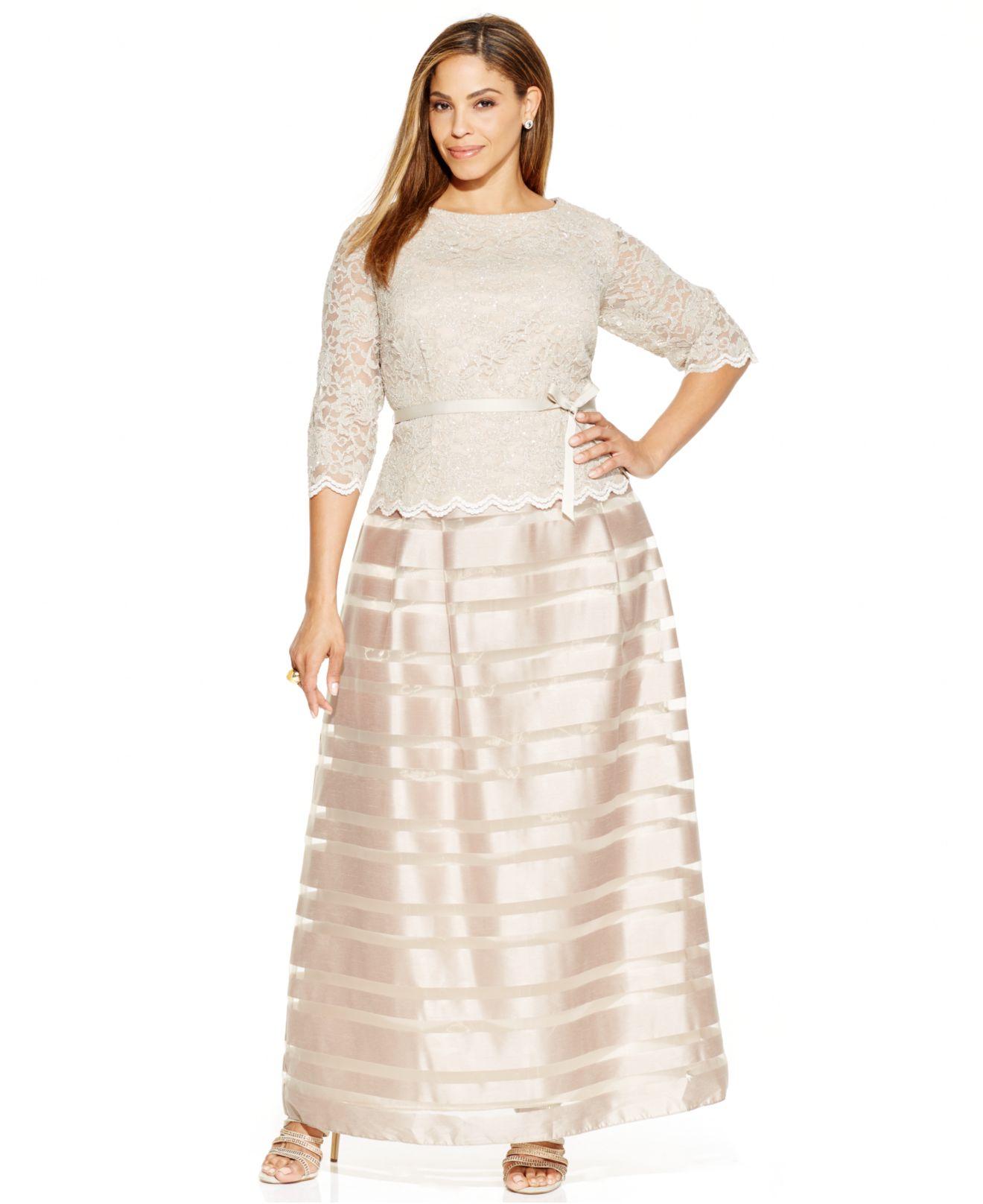 Champagne Chiffon Dresses Plus Size